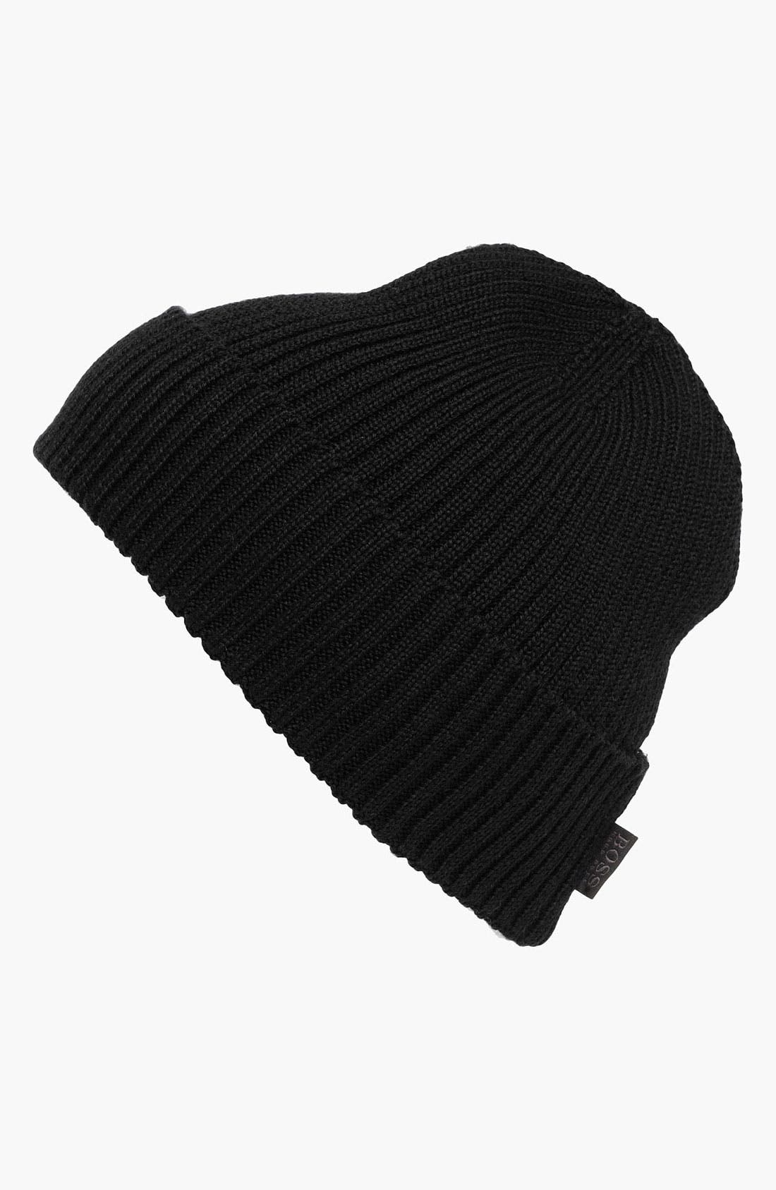 Alternate Image 1 Selected - BOSS Black 'Nattea' Wool Knit Cap
