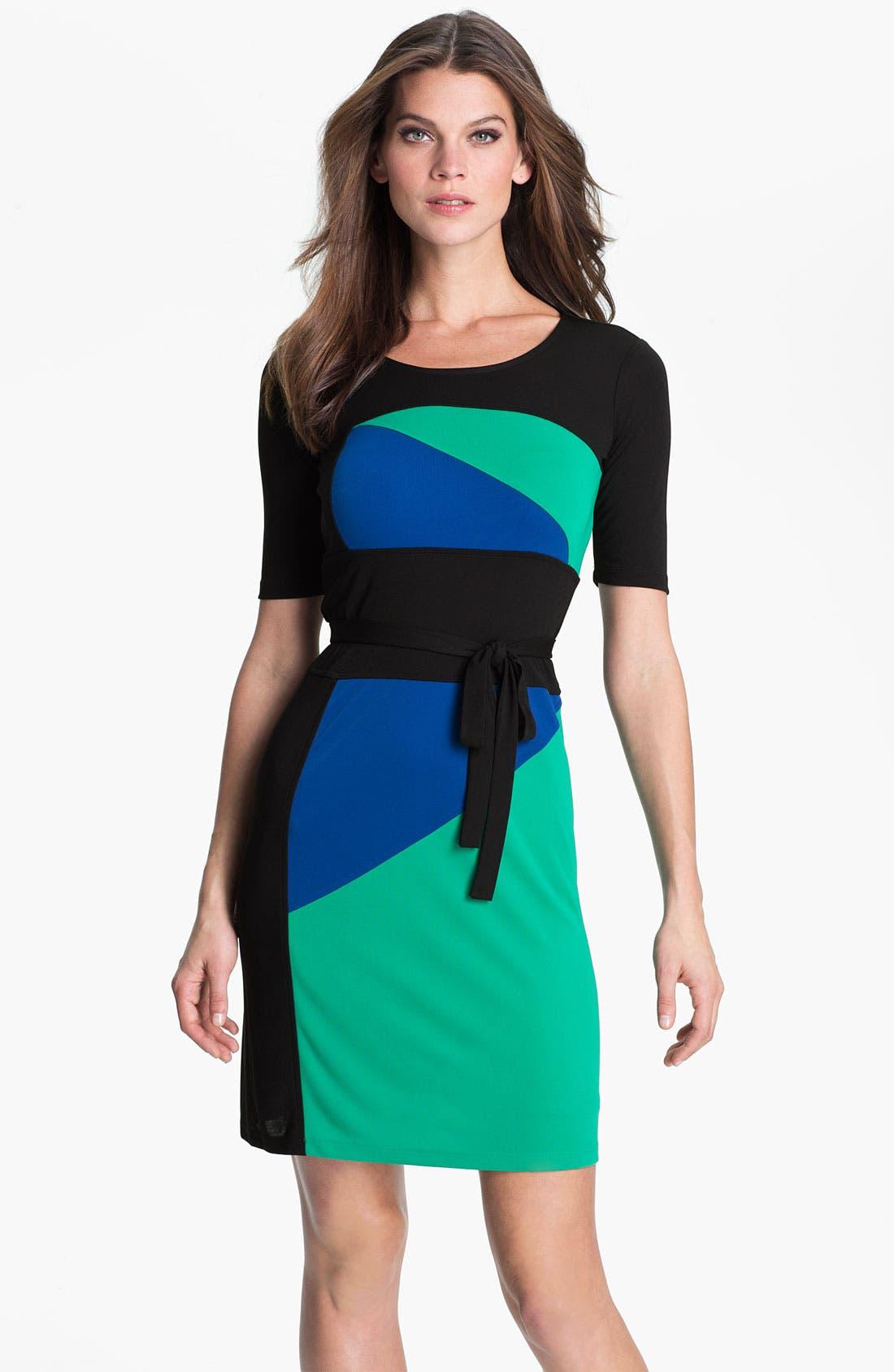 Main Image - BCBGMAXAZRIA 'Leticia' Colorblock Jersey Dress