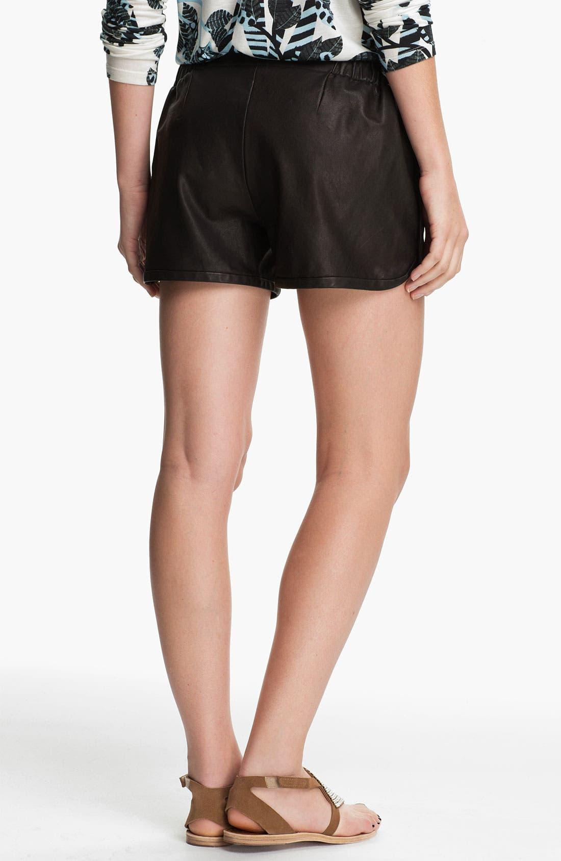 Alternate Image 2  - Thakoon Addition Leather Shorts