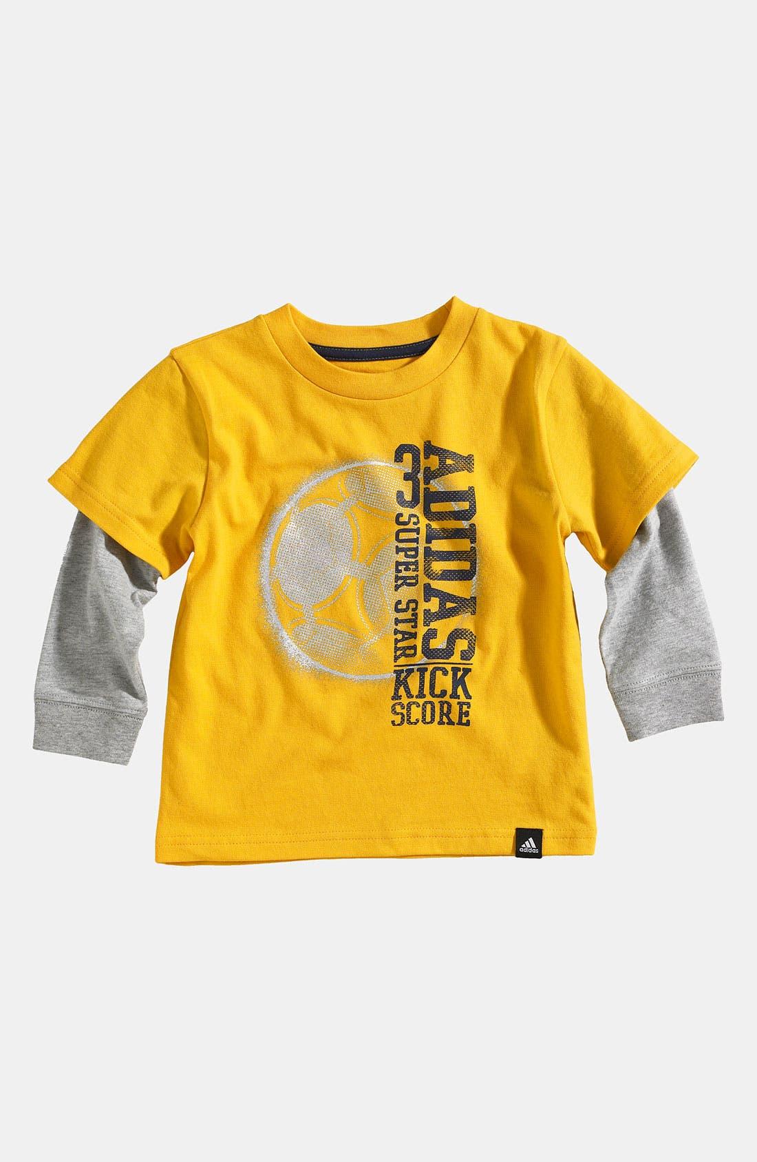 Alternate Image 1 Selected - adidas 'Triple Score' T-Shirt (Infant)