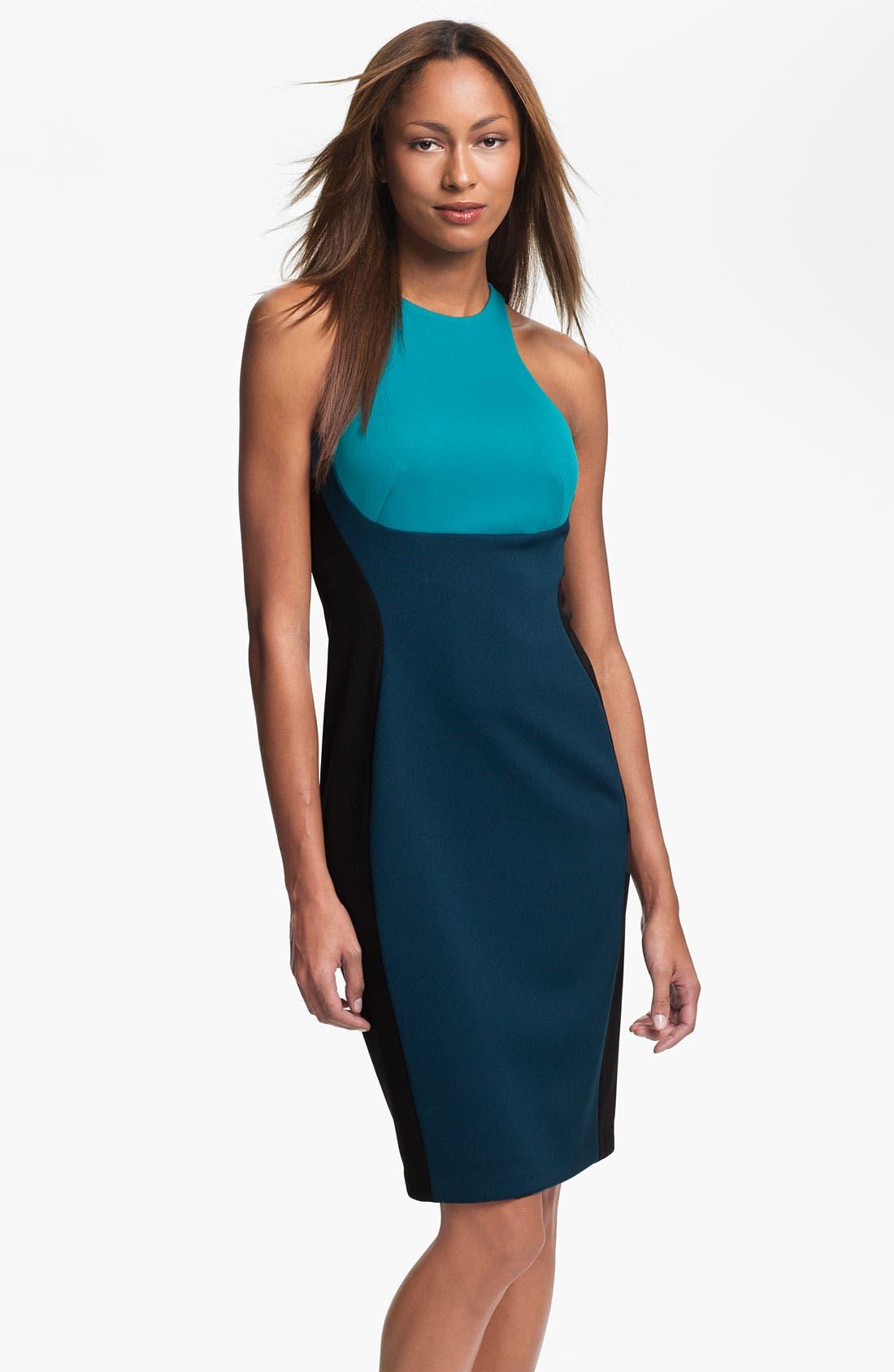 Main Image - Maggy London Colorblock Scuba Sheath Dress