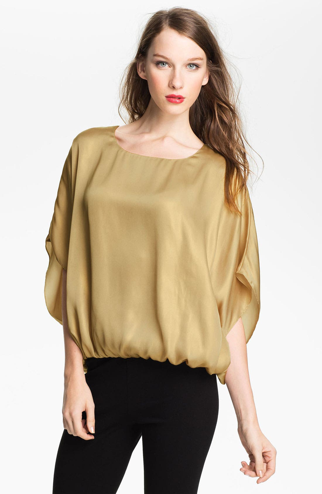 Alternate Image 1 Selected - Vince Camuto Gold Foil Blouse