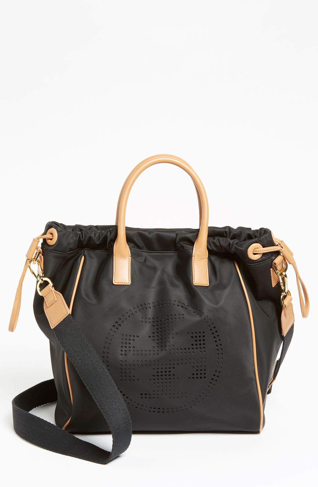 Alternate Image 1 Selected - Tory Burch 'Small' Perforated Logo Drawstring Tote