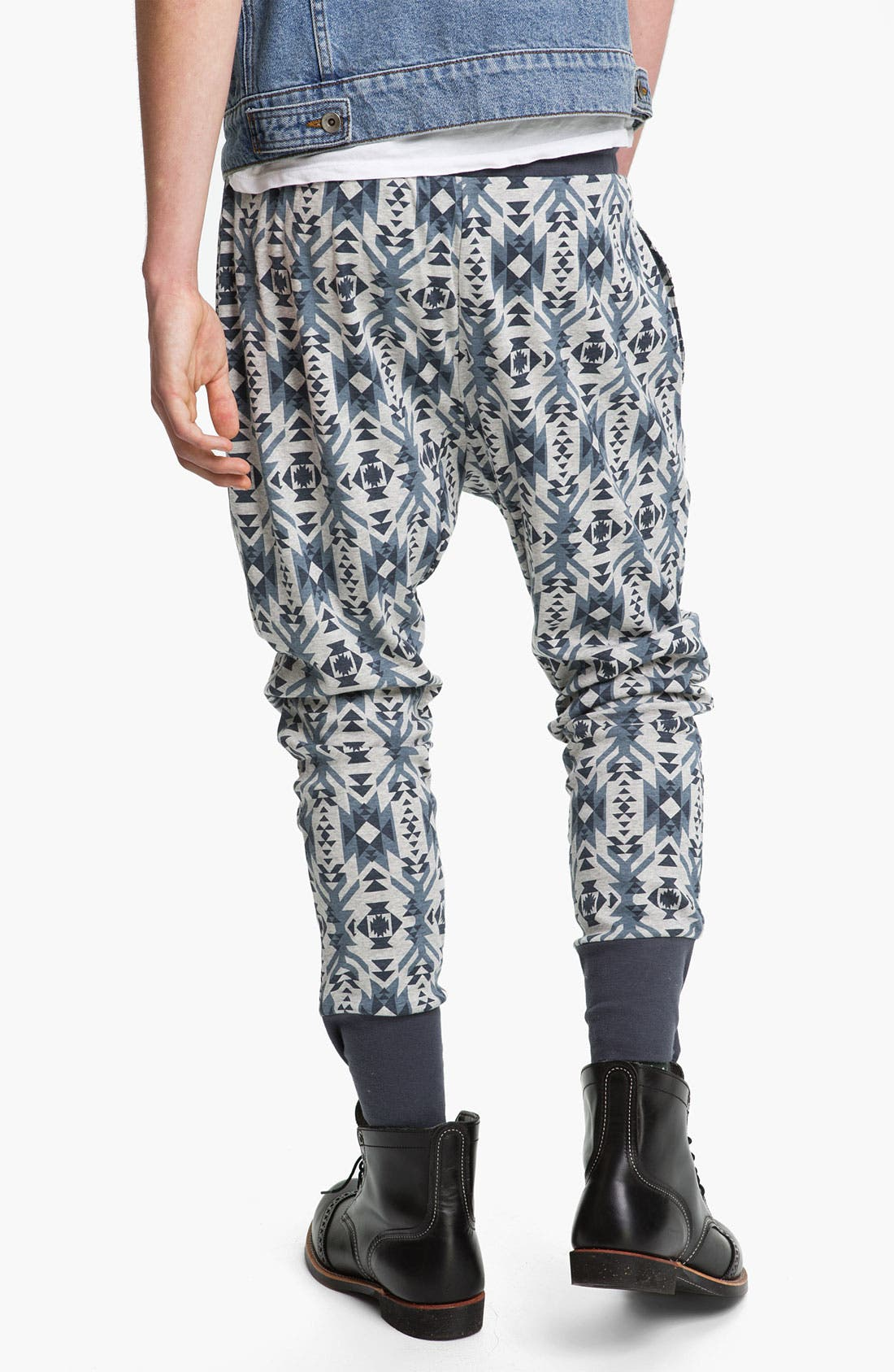Alternate Image 2  - Topman 'Trellick' Jersey Cotton Lounge Pants