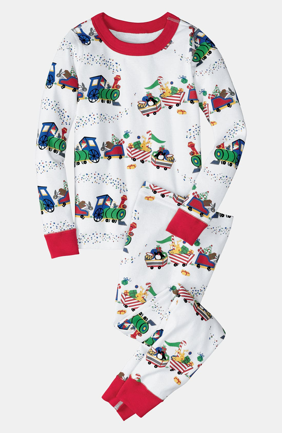 Alternate Image 1 Selected - Hanna Andersson Organic Cotton Fitted Two-Piece Pajamas (Little Kids & Big Kids)