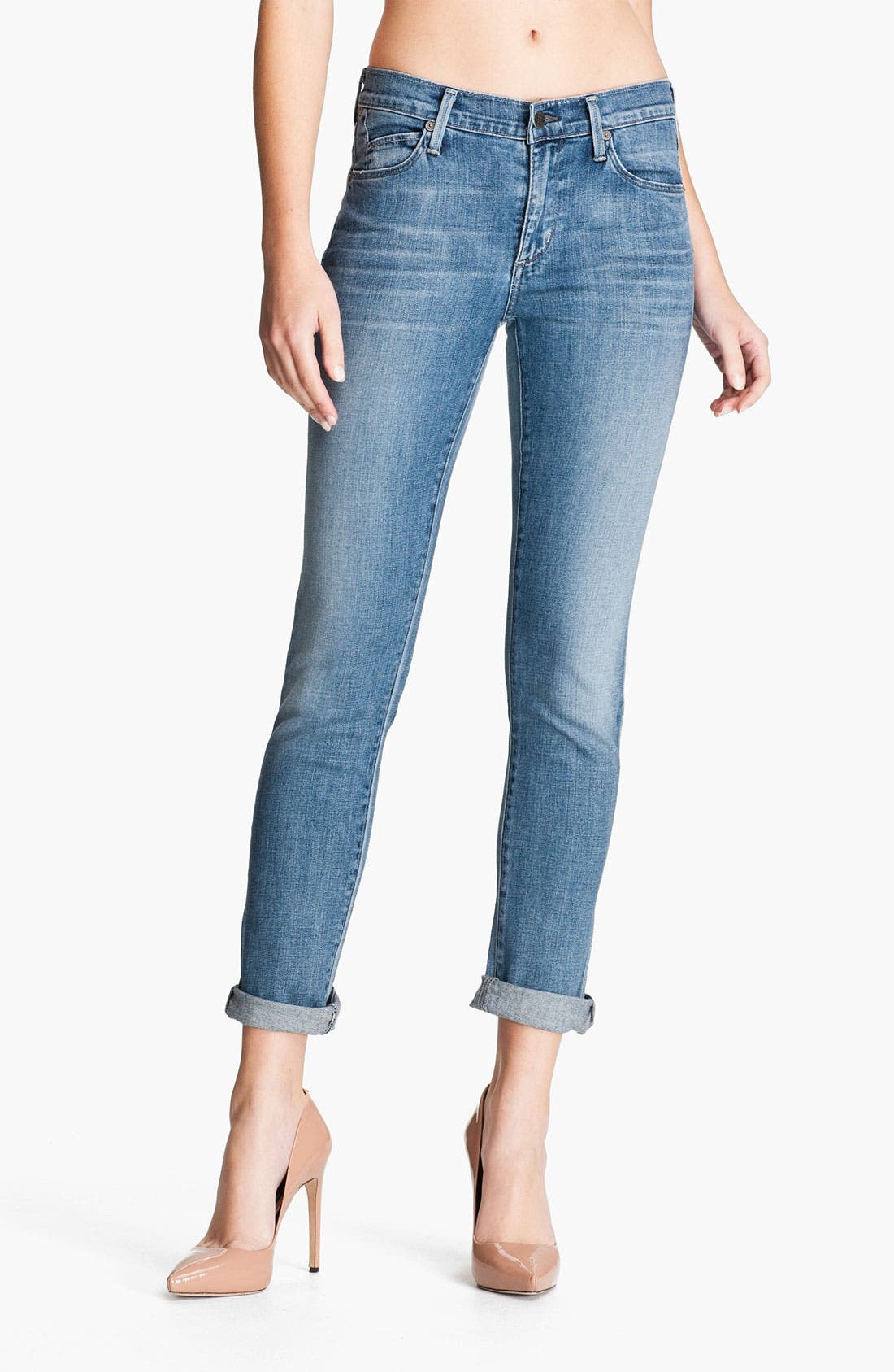 Alternate Image 1 Selected - Citizens of Humanity 'Mandy' Slim Straight Leg Jeans (Crystal)