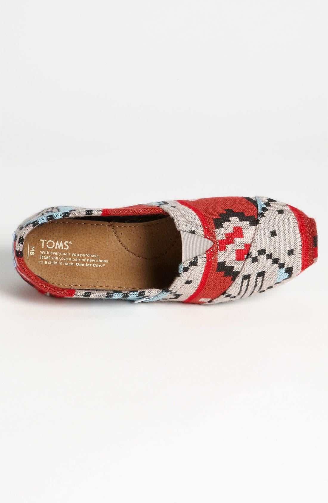Alternate Image 3  - TOMS 'Classic - Novelty Knit' Slip-On (Men)