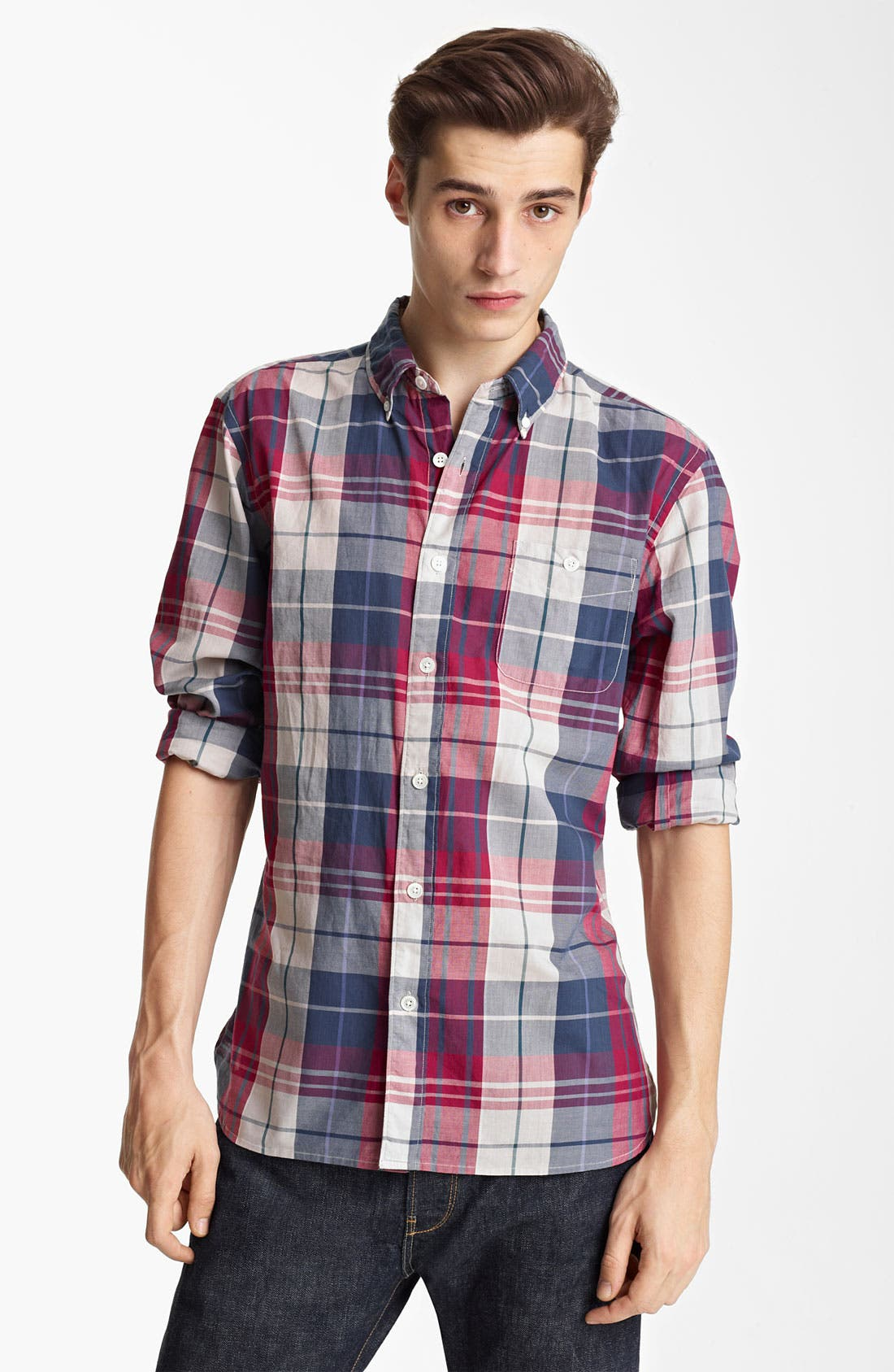 Alternate Image 1 Selected - Todd Snyder Plaid Woven Shirt