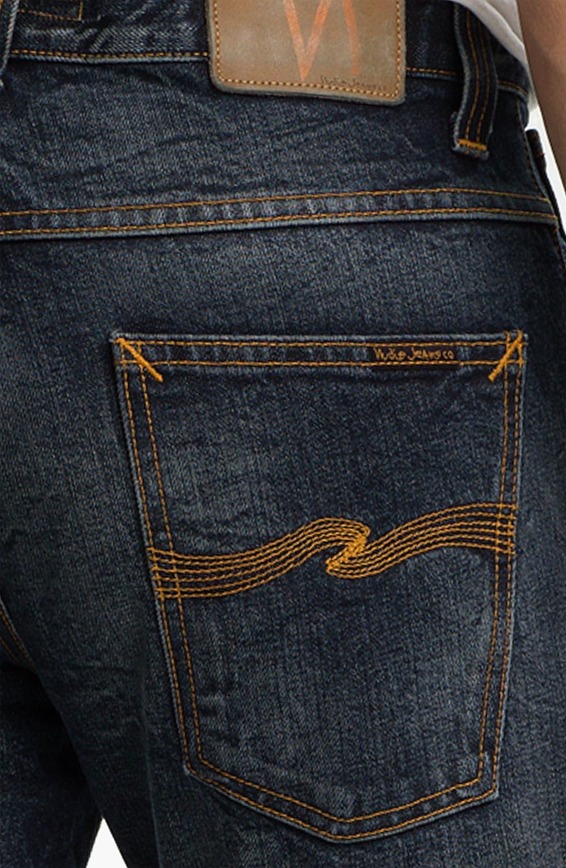 Alternate Image 4  - Nudie 'Average Joe' Straight Leg Jeans (Organic Thorough Indigo)