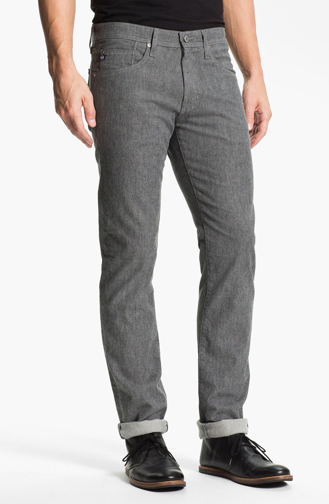 Main Image - AG Jeans 'Matchbox' Slim Straight Leg Jeans (Tweed Grey)