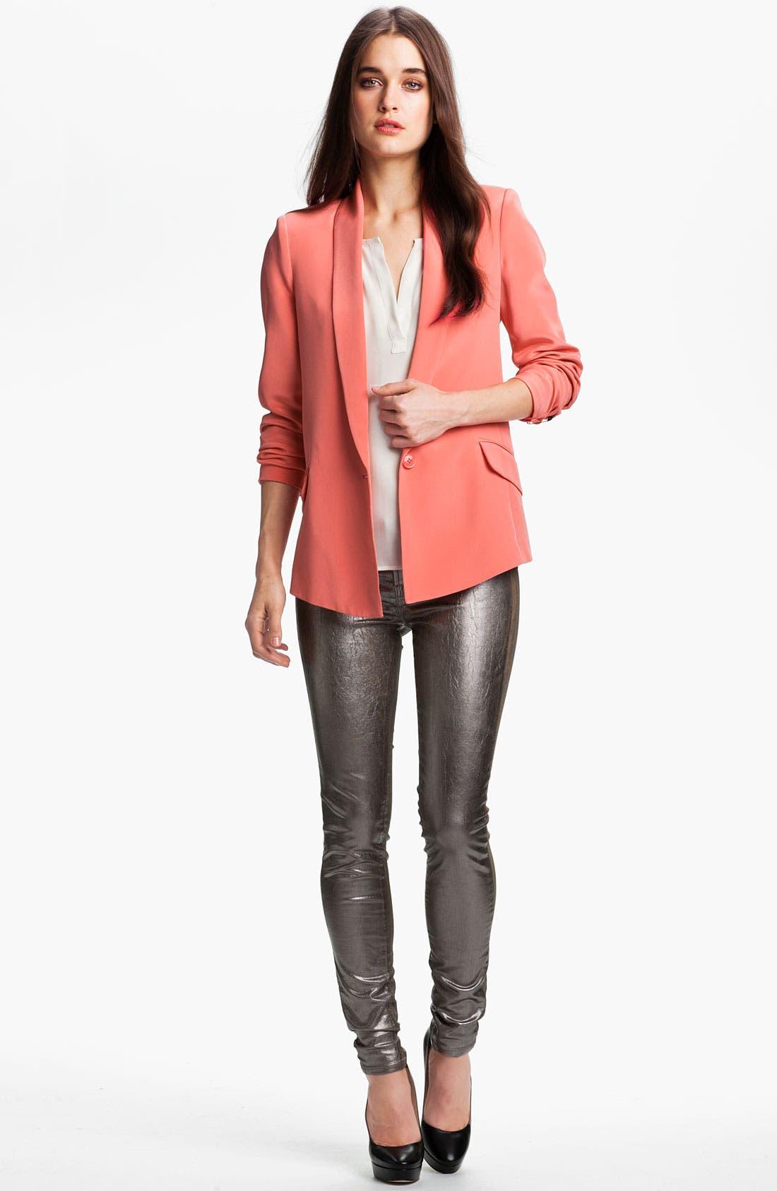 Alternate Image 4  - Truth and Pride Shawl Collar Silk Blazer