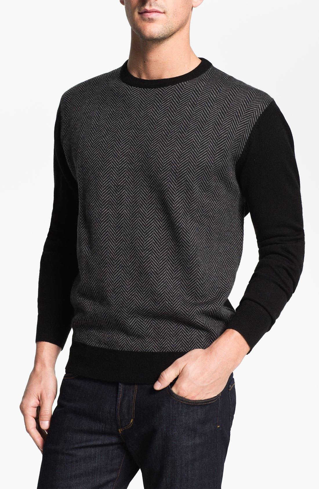 Alternate Image 1 Selected - Toscano Wool Blend Crewneck Sweater