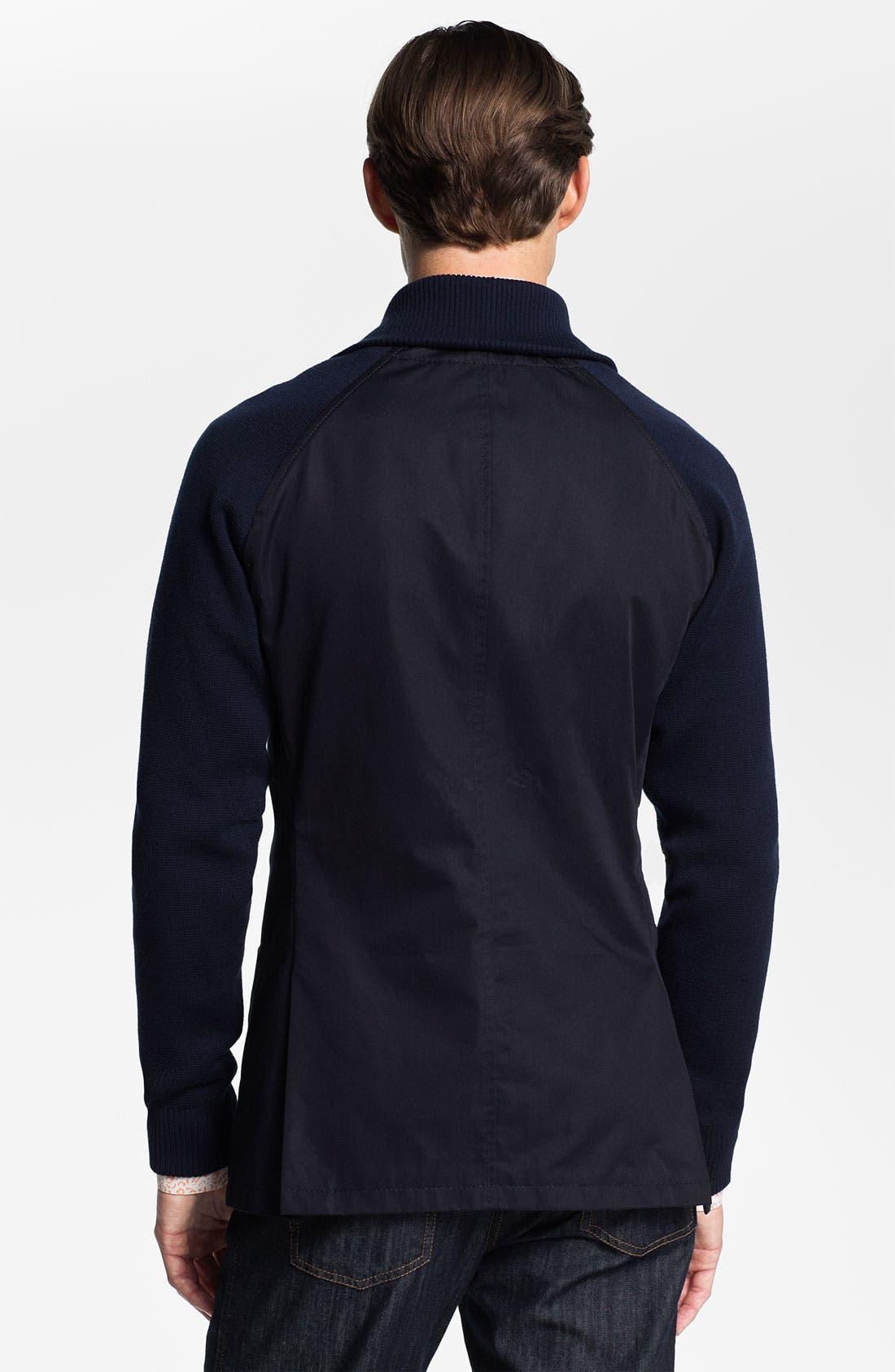 Alternate Image 2  - Salvatore Ferragamo Shawl Collar Sportcoat with Knit Trim