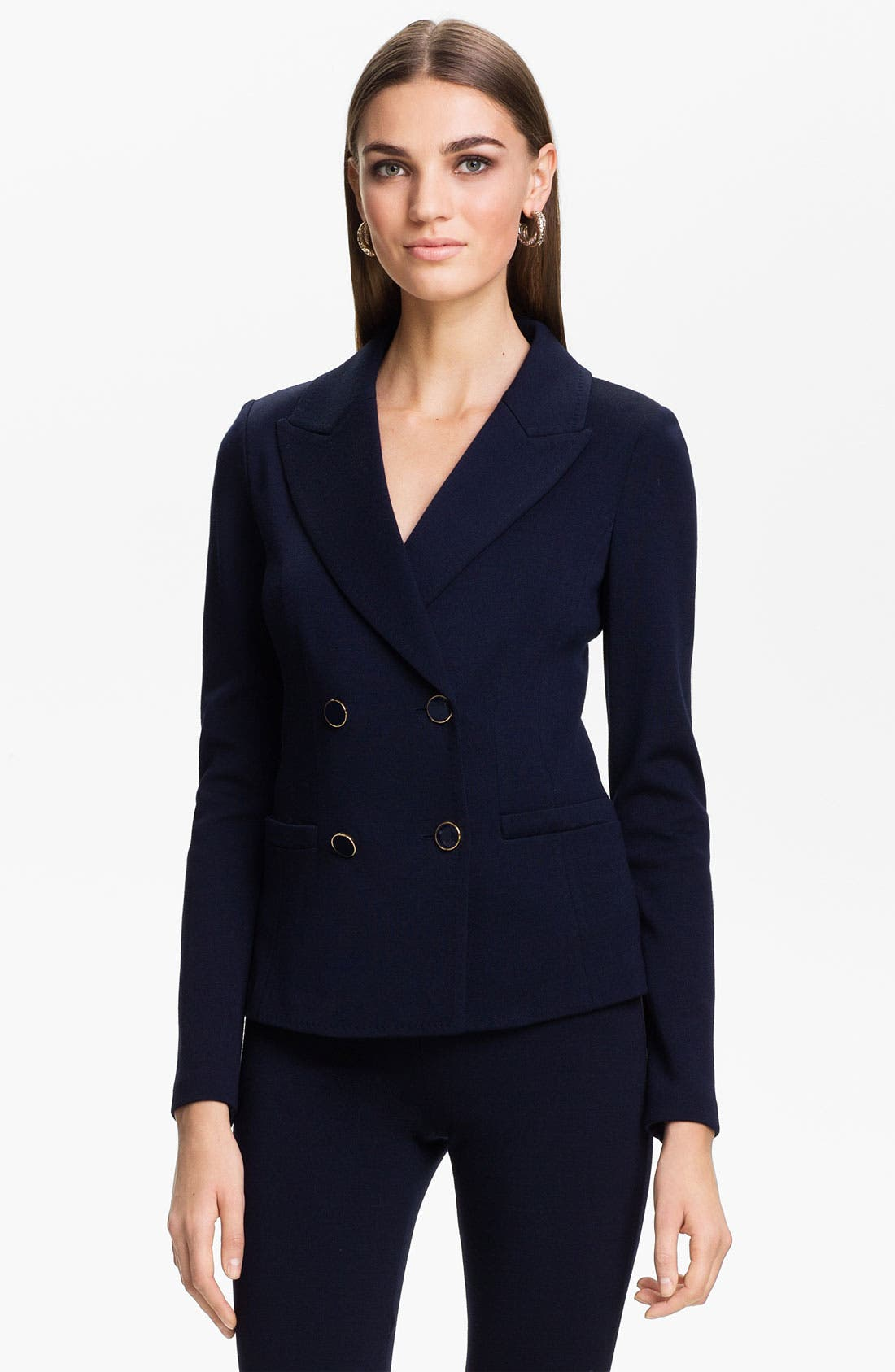 Main Image - St. John Collection Double Breasted Milano Knit Jacket