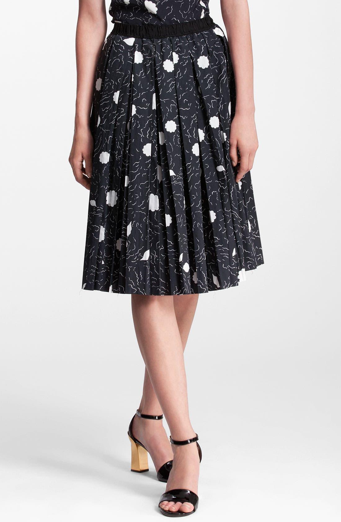 Main Image - Marni Abstract Print Pleated Skirt