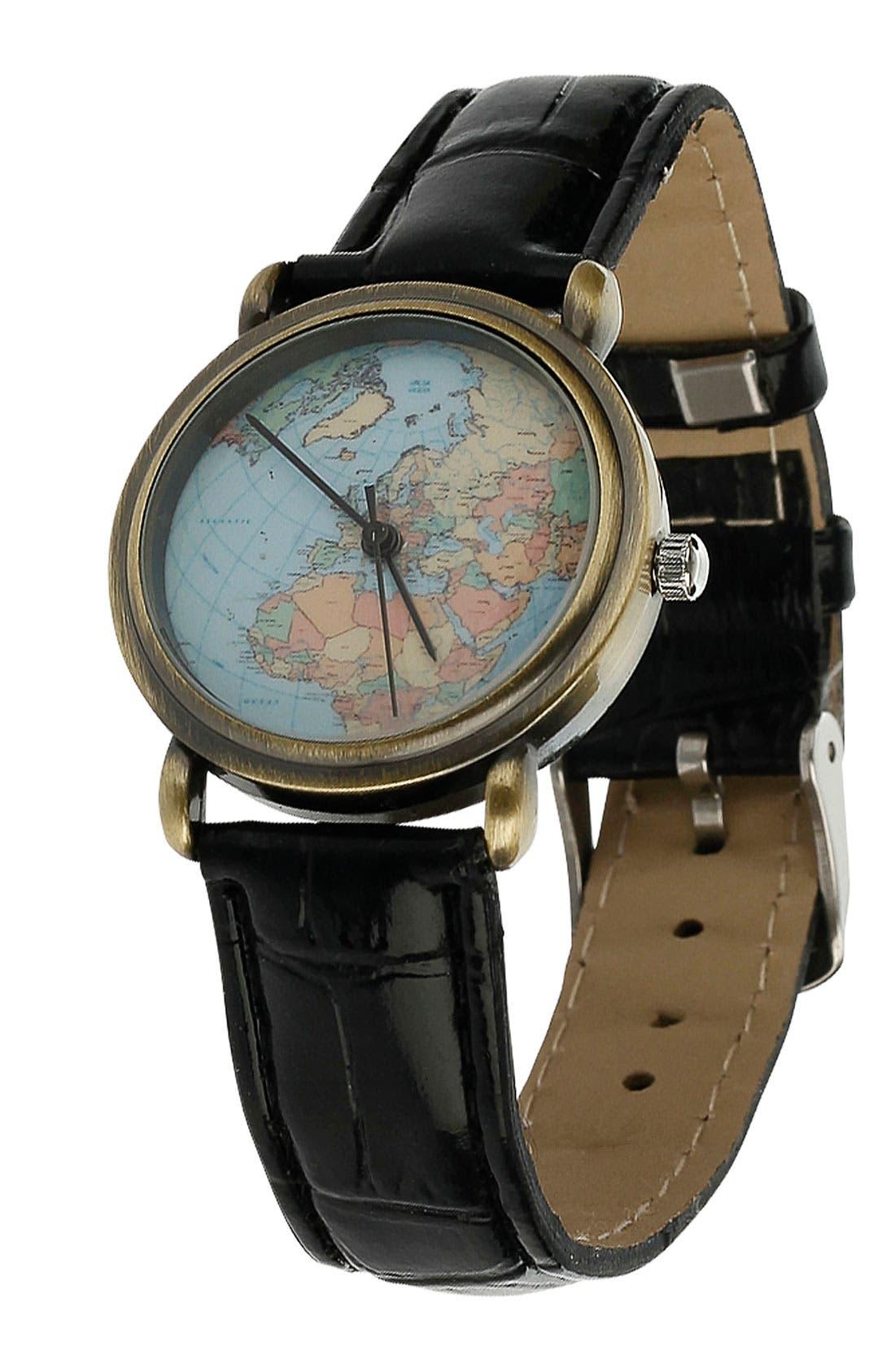 Alternate Image 1 Selected - Topman 'World Map' Watch