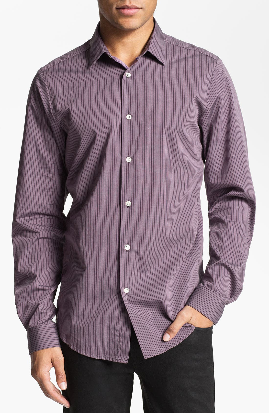 Alternate Image 1 Selected - PLECTRUM by Ben Sherman 'Shoreditch' Stripe Woven Shirt