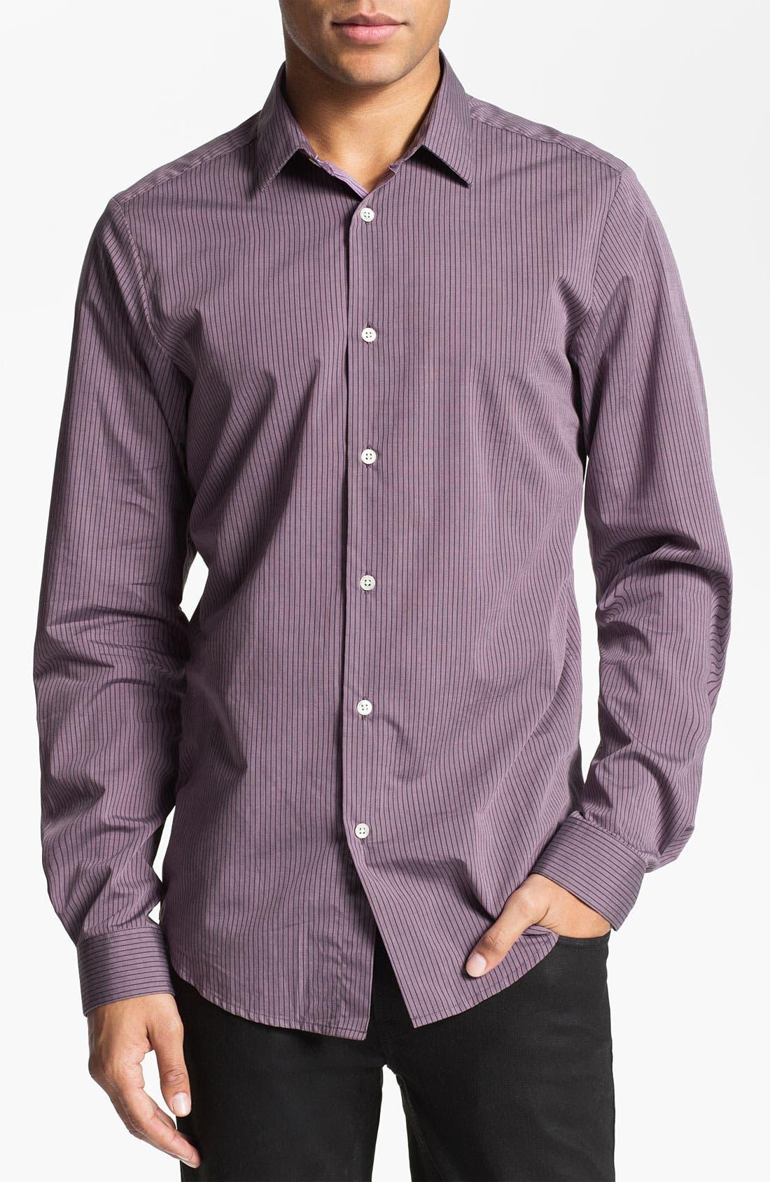 Main Image - PLECTRUM by Ben Sherman 'Shoreditch' Stripe Woven Shirt