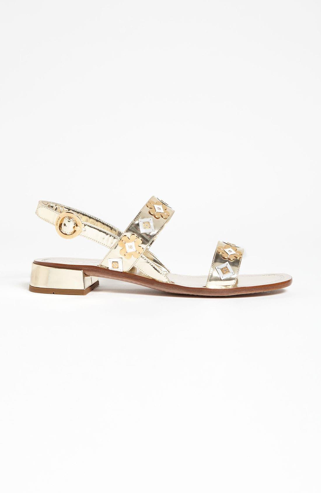 Alternate Image 3  - Prada Two Strap Appliqué Sandal