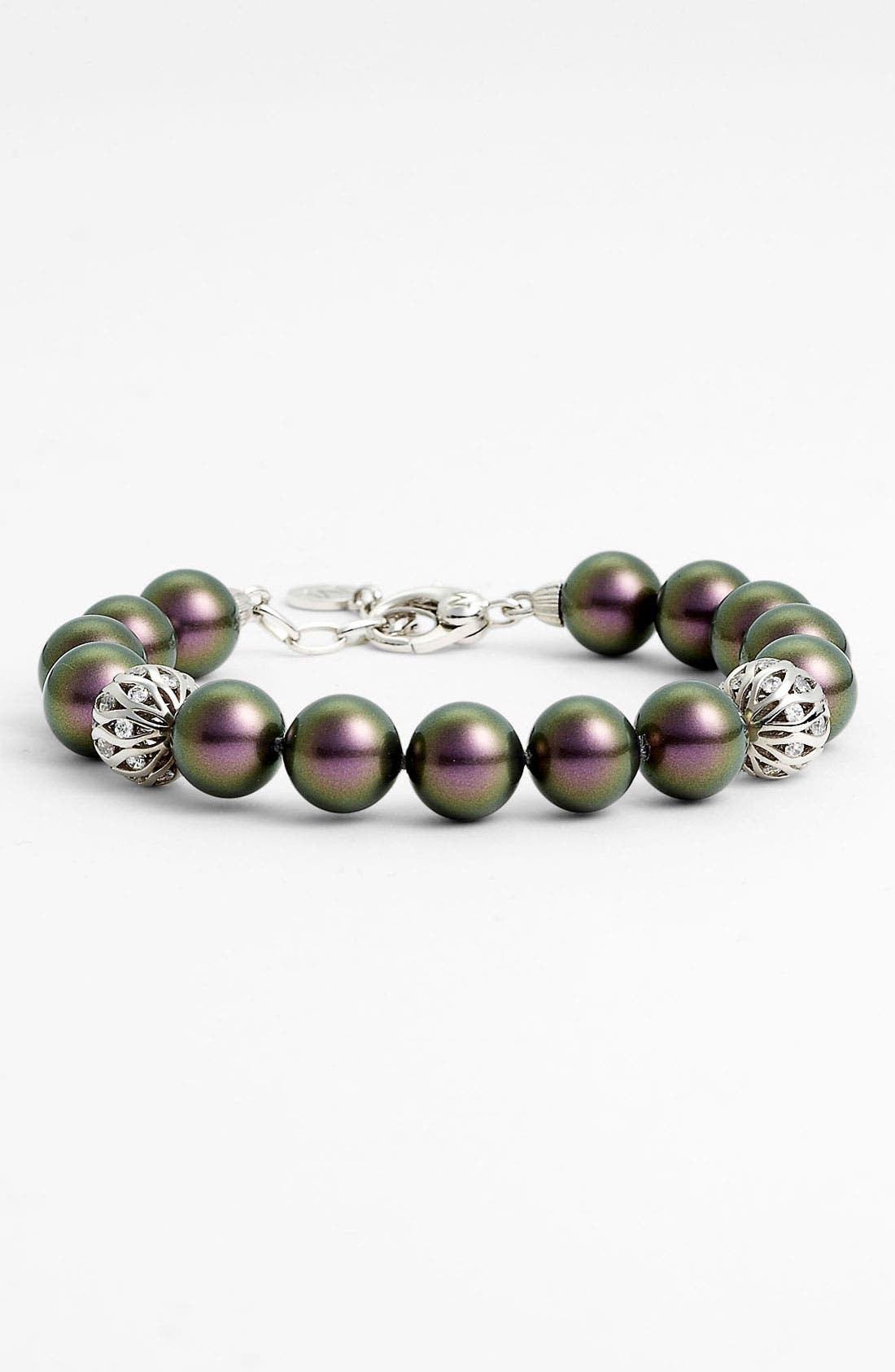 Alternate Image 1 Selected - Majorica 10mm Pearl Line Bracelet