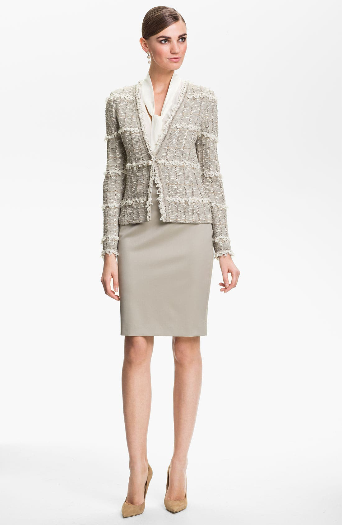 Alternate Image 2  - St. John Collection Positano Tweed Knit Jacket