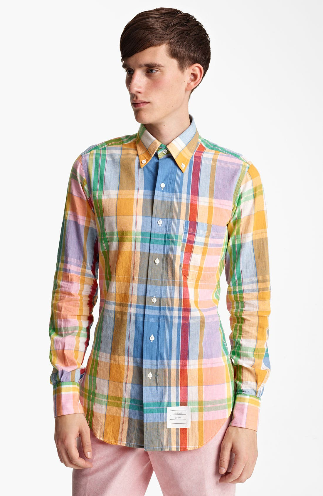 Alternate Image 3  - Thom Browne Multicolor Madras Plaid Cotton Shirt