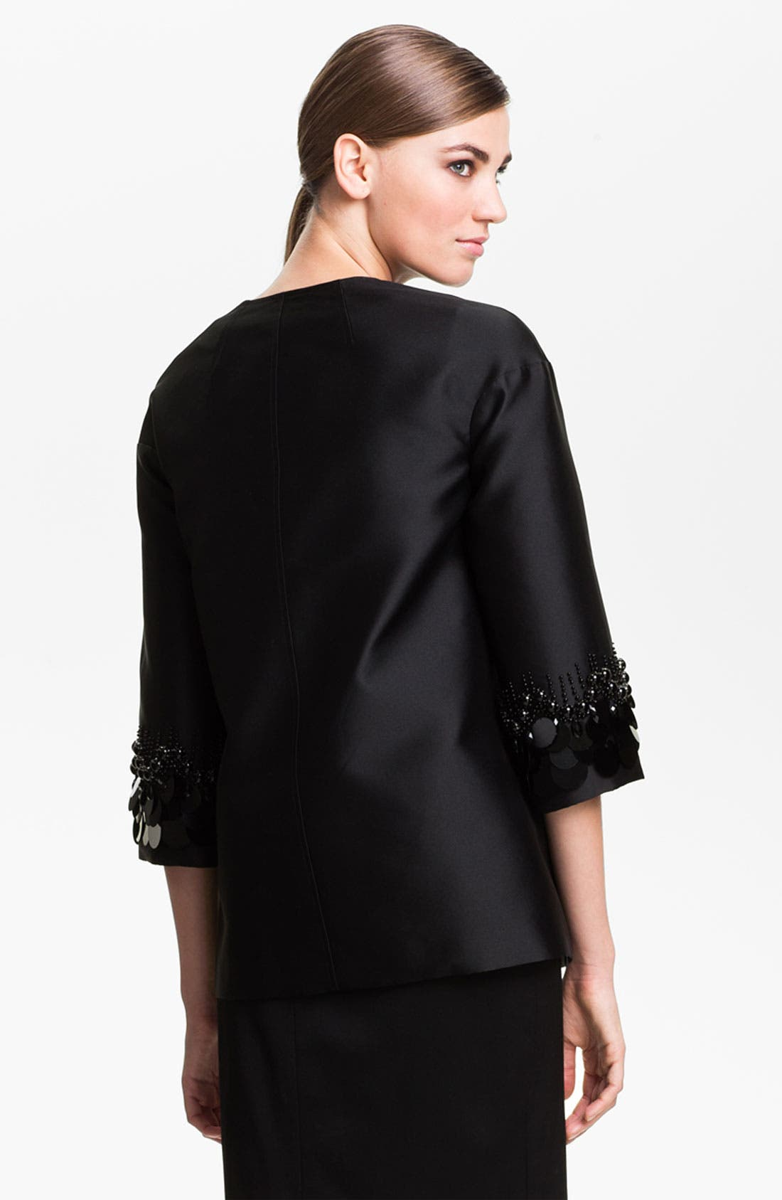 Alternate Image 4  - St. John Collection Sequin Embroidered Mikado Jacket