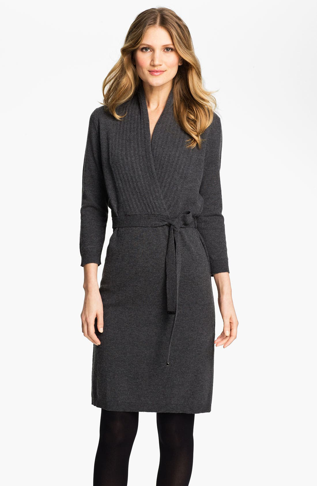 Main Image - BOSS HUGO BOSS Faux Wrap Sweater Dress