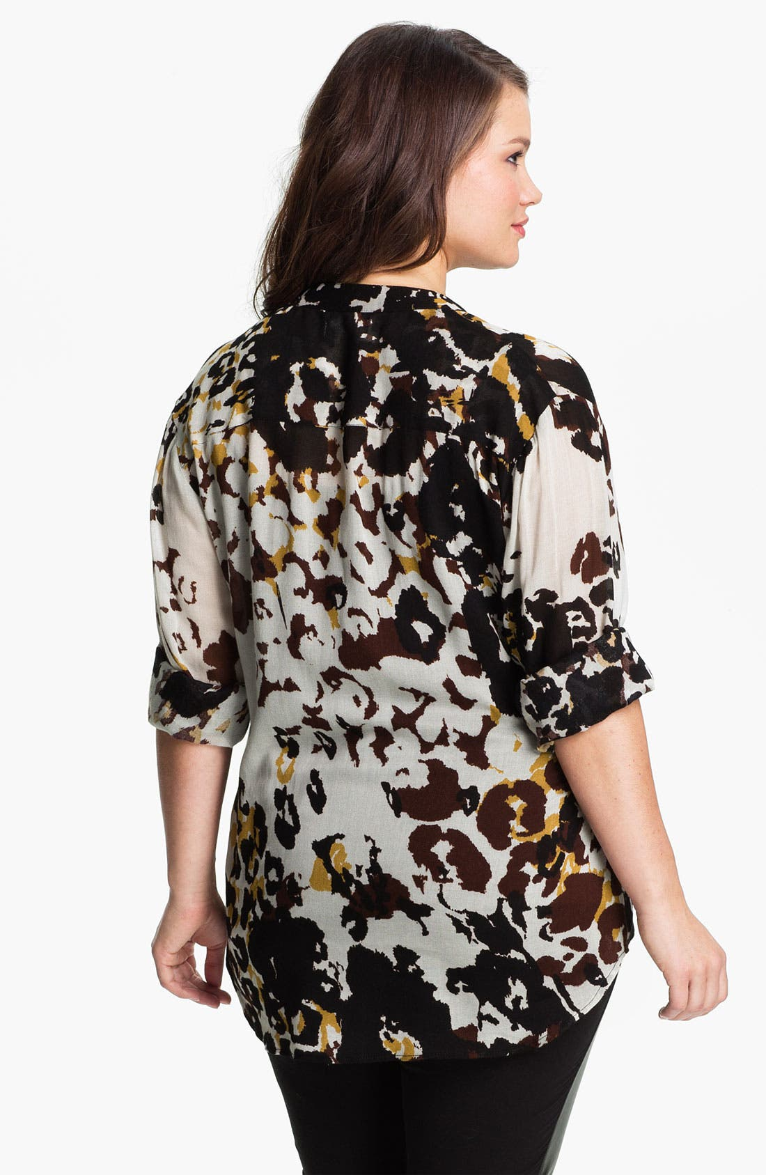 Alternate Image 2  - Nation LTD 'Sonoma' Leopard Print Shirt (Plus)