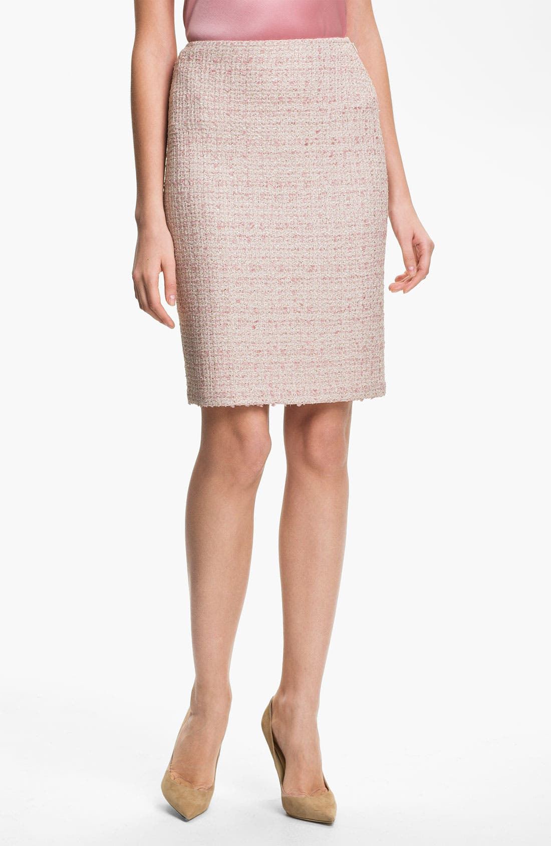 Alternate Image 1 Selected - St. John Collection Eyelash Shimmer Tweed Pencil Skirt