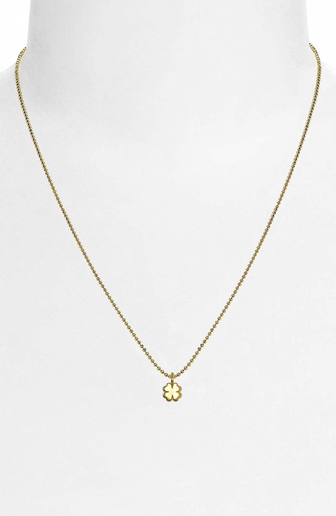 Alternate Image 2  - Alex Woo 'Mini Clover' 14k Gold Pendant Necklace