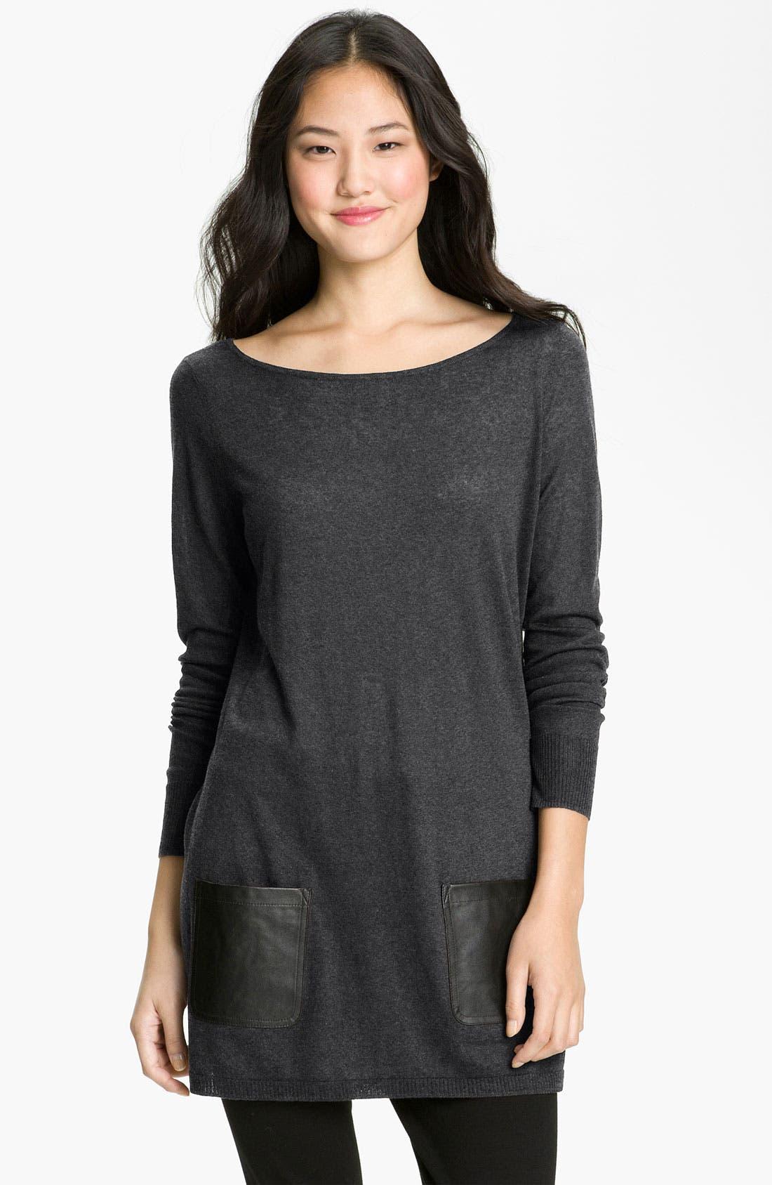 Alternate Image 1 Selected - Halogen® Sweater Tunic (Petite)
