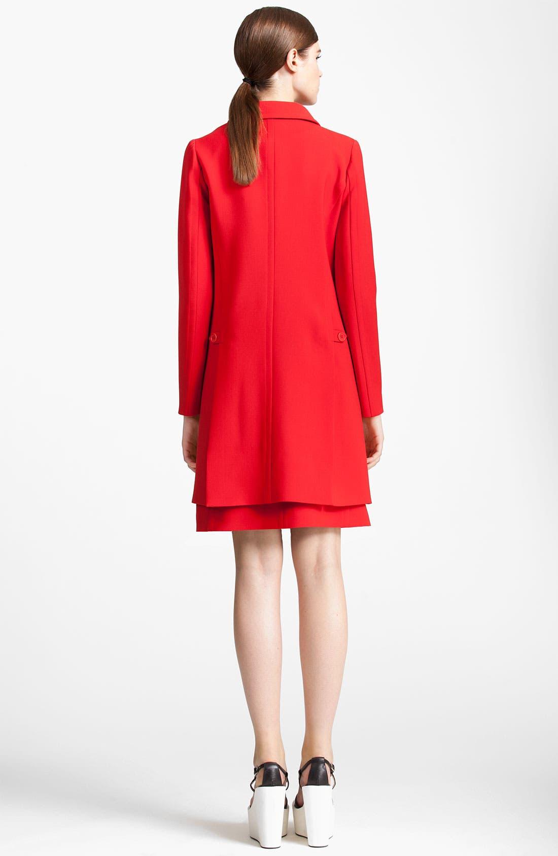 Alternate Image 2  - Jil Sander Navy Wool Crepe Coat
