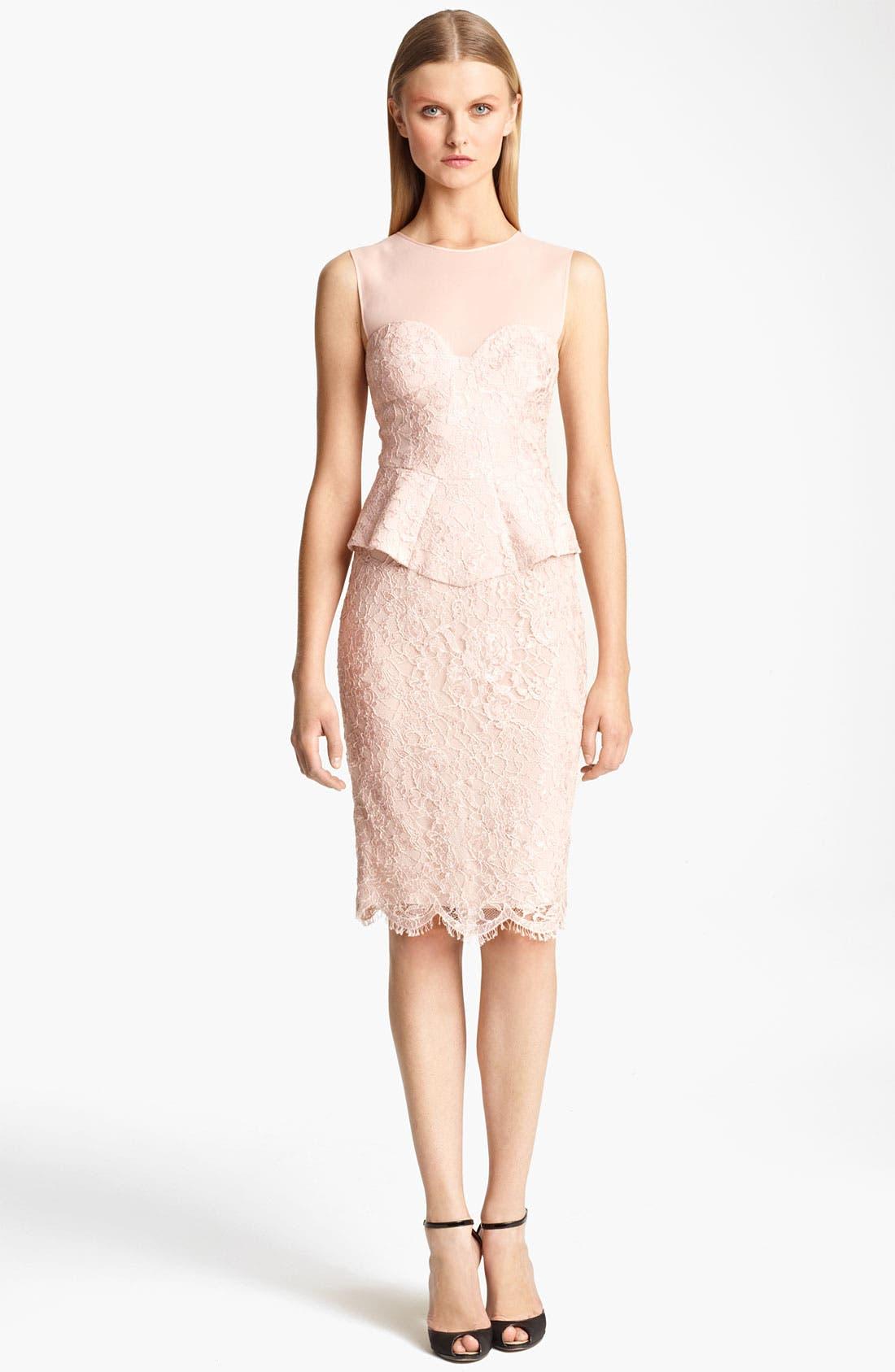 Main Image - Emilio Pucci Peplum Lace Dress