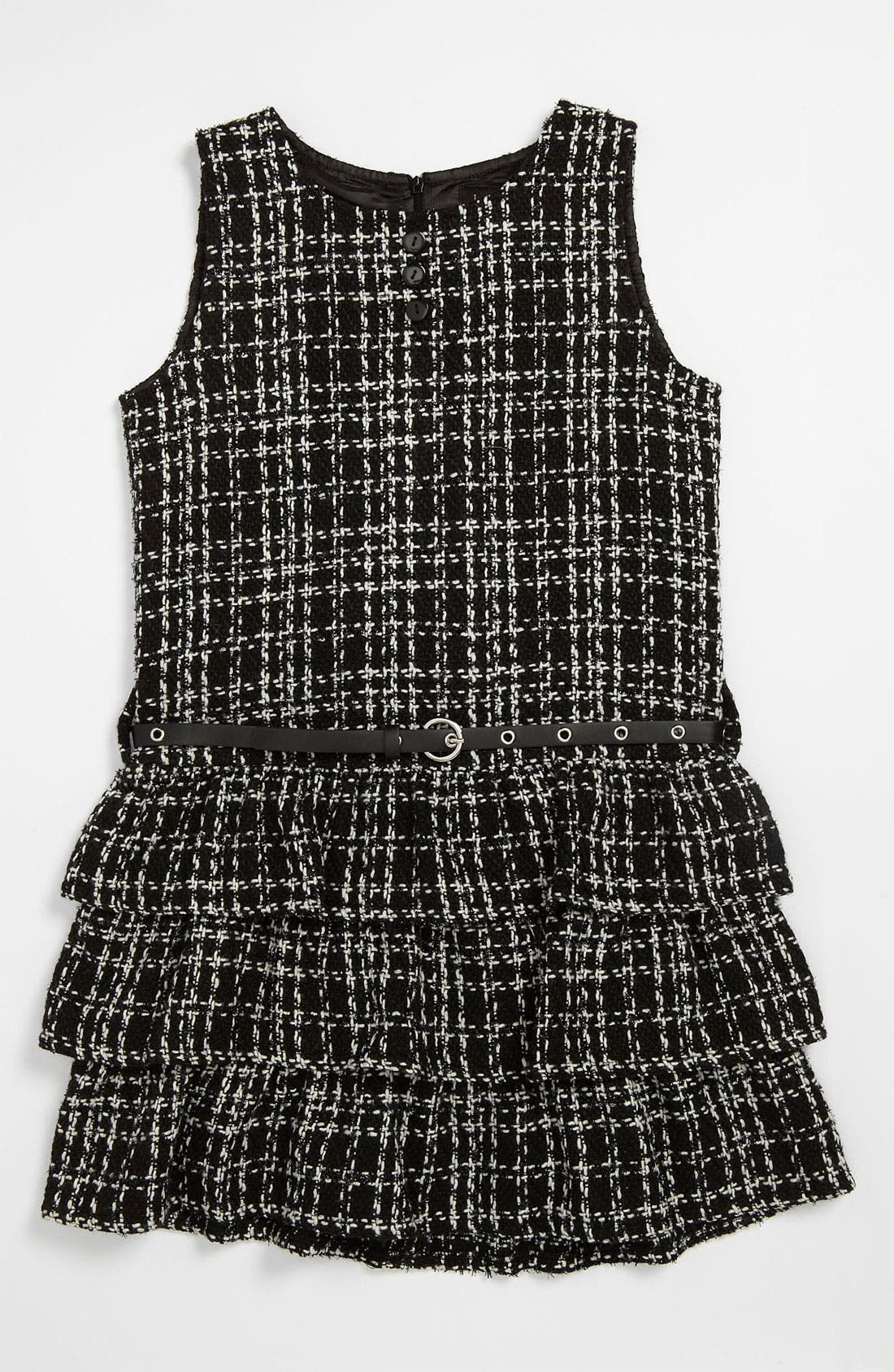Main Image - Laundry by Shelli Segal 'Lucy' Bouclé Dress (Big Girls)