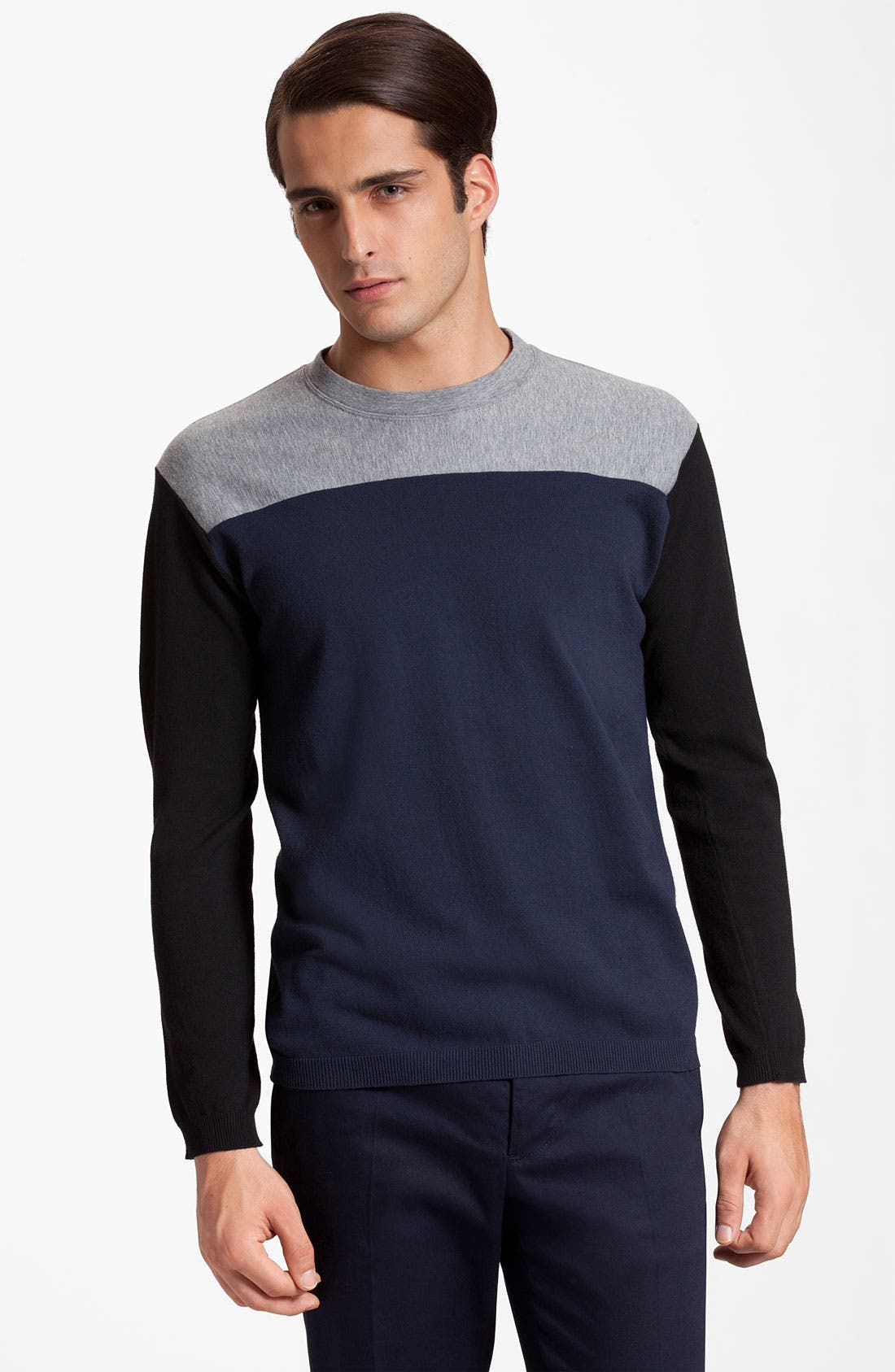 Alternate Image 1 Selected - Marni Colorblock Crewneck Sweater