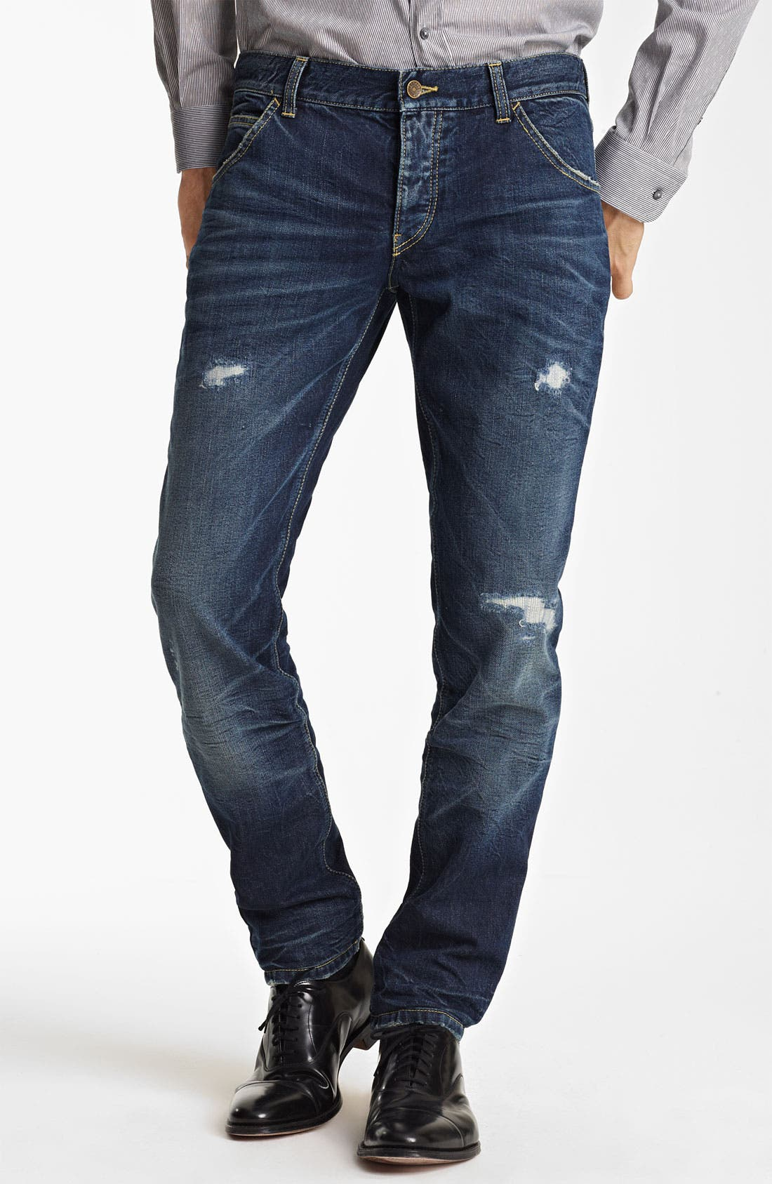 Alternate Image 1 Selected - Dolce&Gabbana Slim Fit Jeans (Dark Blue)
