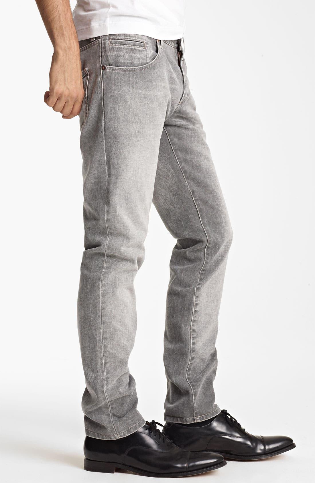 Alternate Image 3  - Dolce&Gabbana Slim Straight Leg Jeans (Medium Grey)