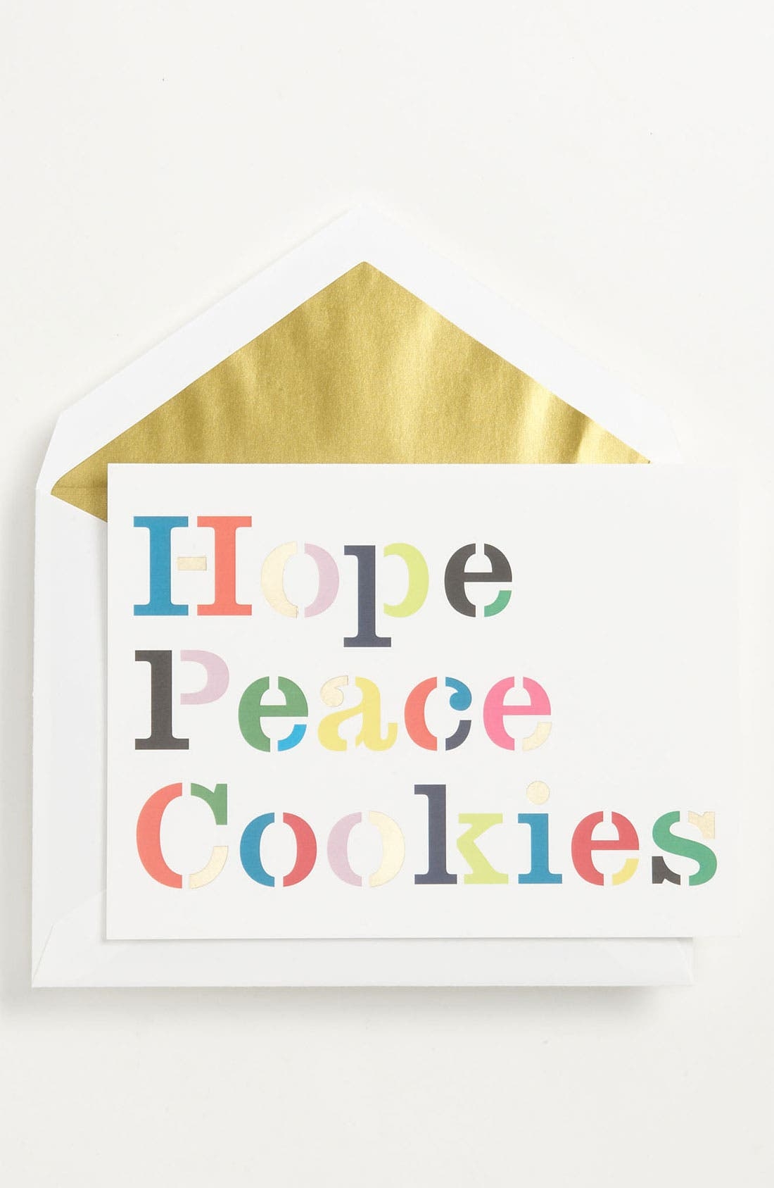 Alternate Image 1 Selected - kate spade new york 'hope peace cookies' foldover note cards (10-Pack)