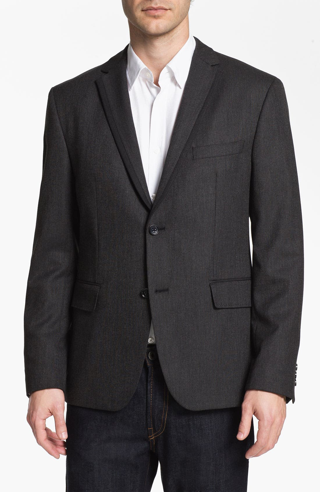 Alternate Image 1 Selected - BOSS Black 'Coastes' Trim Fit Blazer