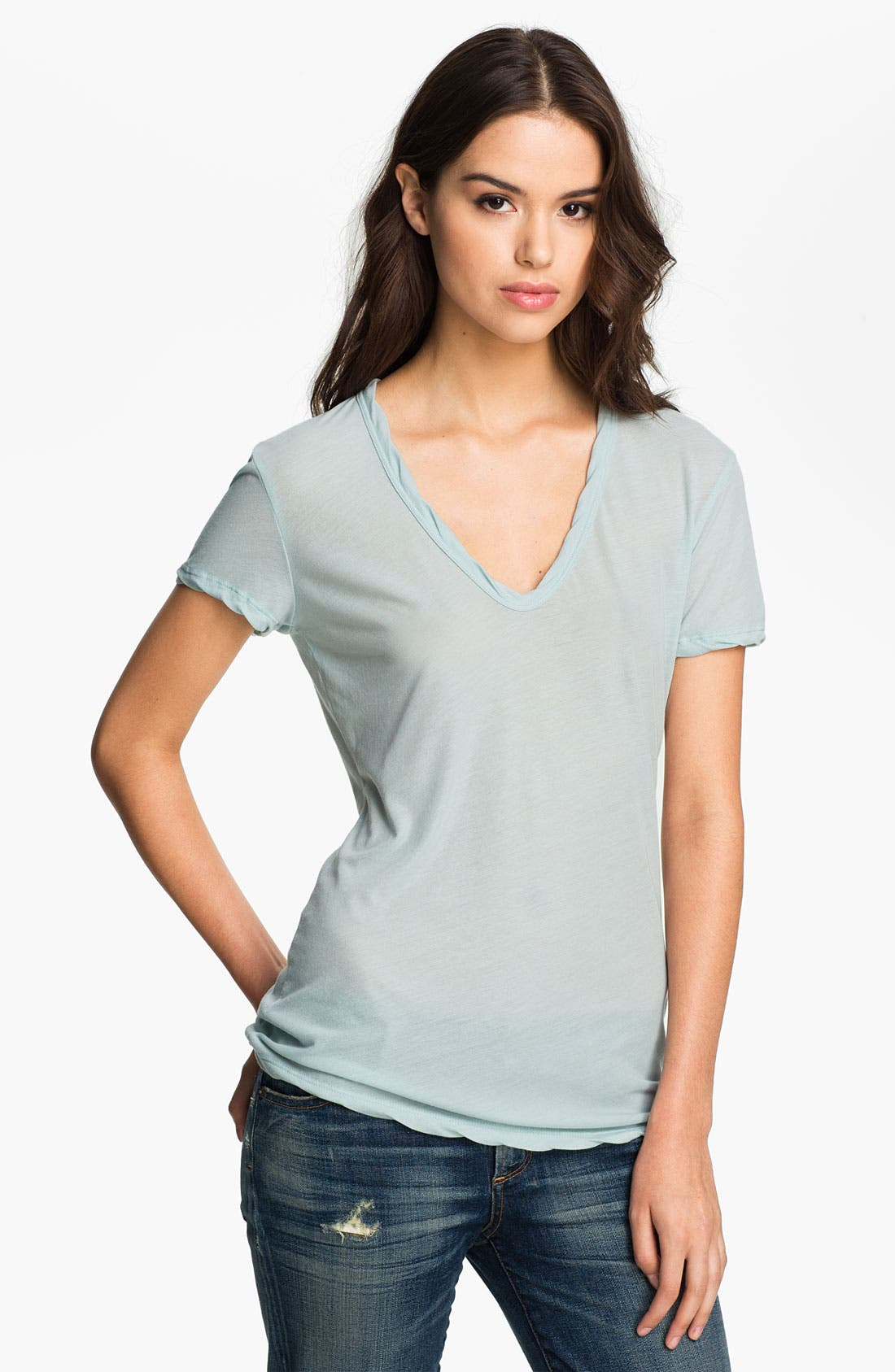 Alternate Image 1 Selected - James Perse Soft V-Neck Tee