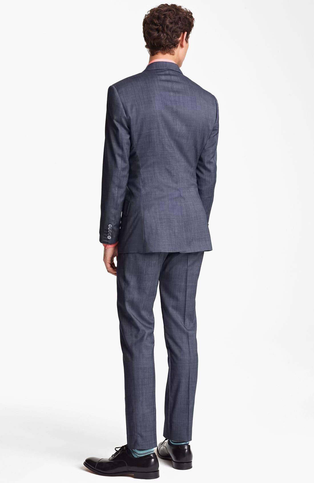 Alternate Image 3  - Paul Smith London Slim Fit Wool & Cotton Suit