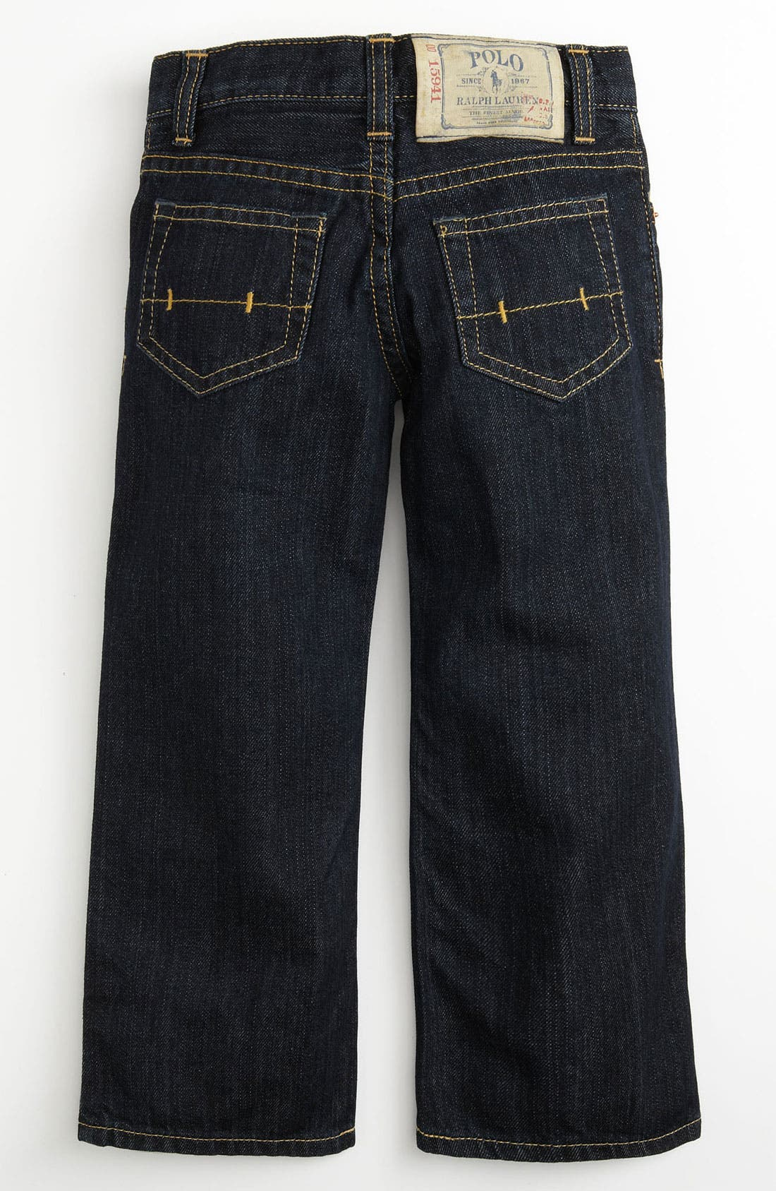 Alternate Image 1 Selected - Ralph Lauren Skinny Leg Jeans (Toddler)