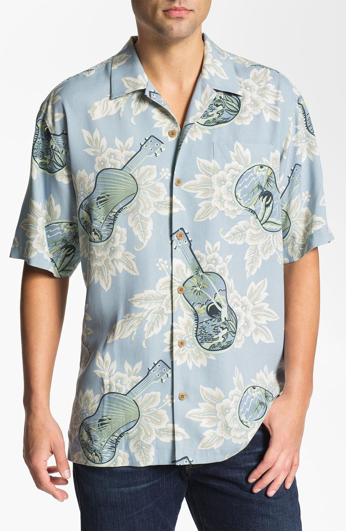 Alternate Image 1 Selected - Tommy Bahama 'Island Jams' Silk Campshirt (Online Only)