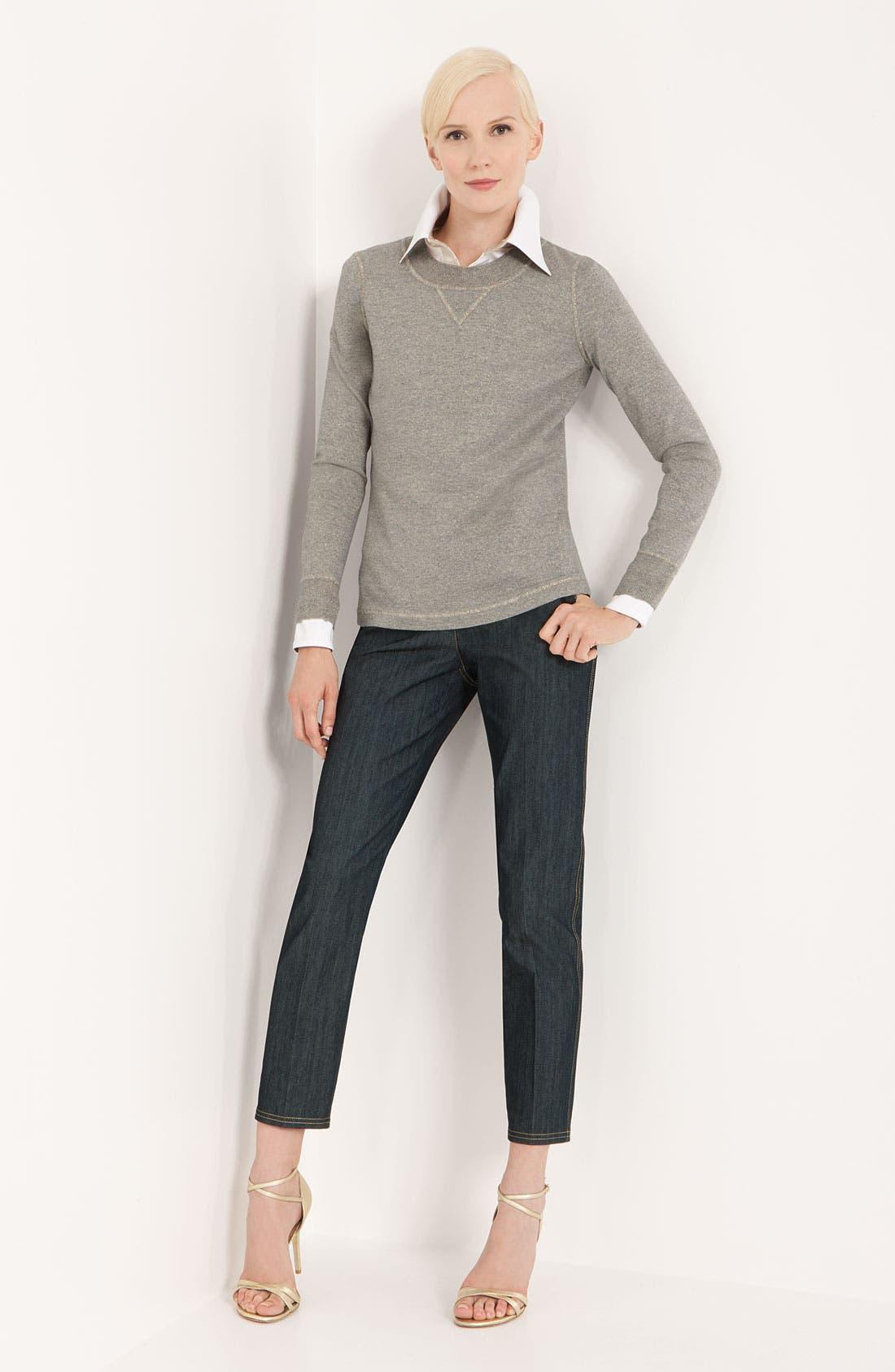 Alternate Image 4  - St. John Collection Shimmer Mélange Knit Sweater