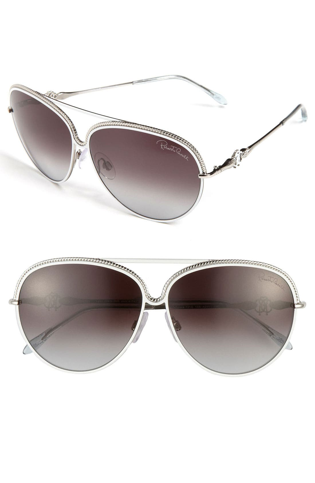 Alternate Image 1 Selected - Roberto Cavalli 62mm Aviator Sunglasses