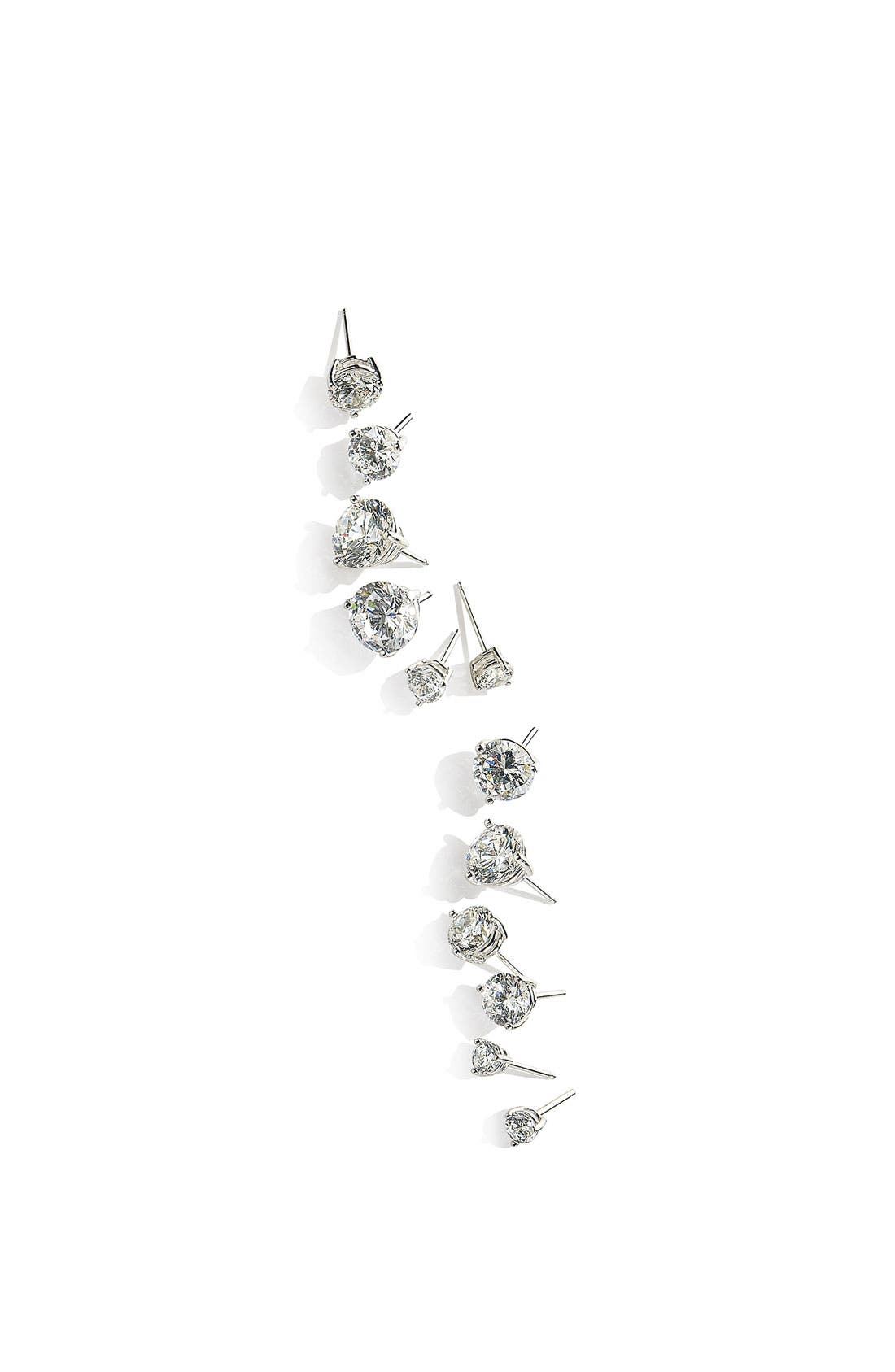 Alternate Image 8  - Nordstrom Precious Metal Plated 6ct tw Cubic Zirconia Earrings