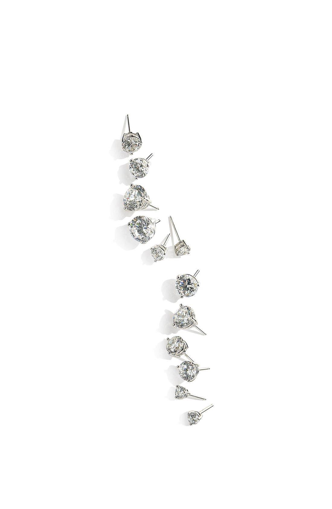 Alternate Image 9  - Nordstrom Precious Metal Plated 6ct tw Cubic Zirconia Earrings