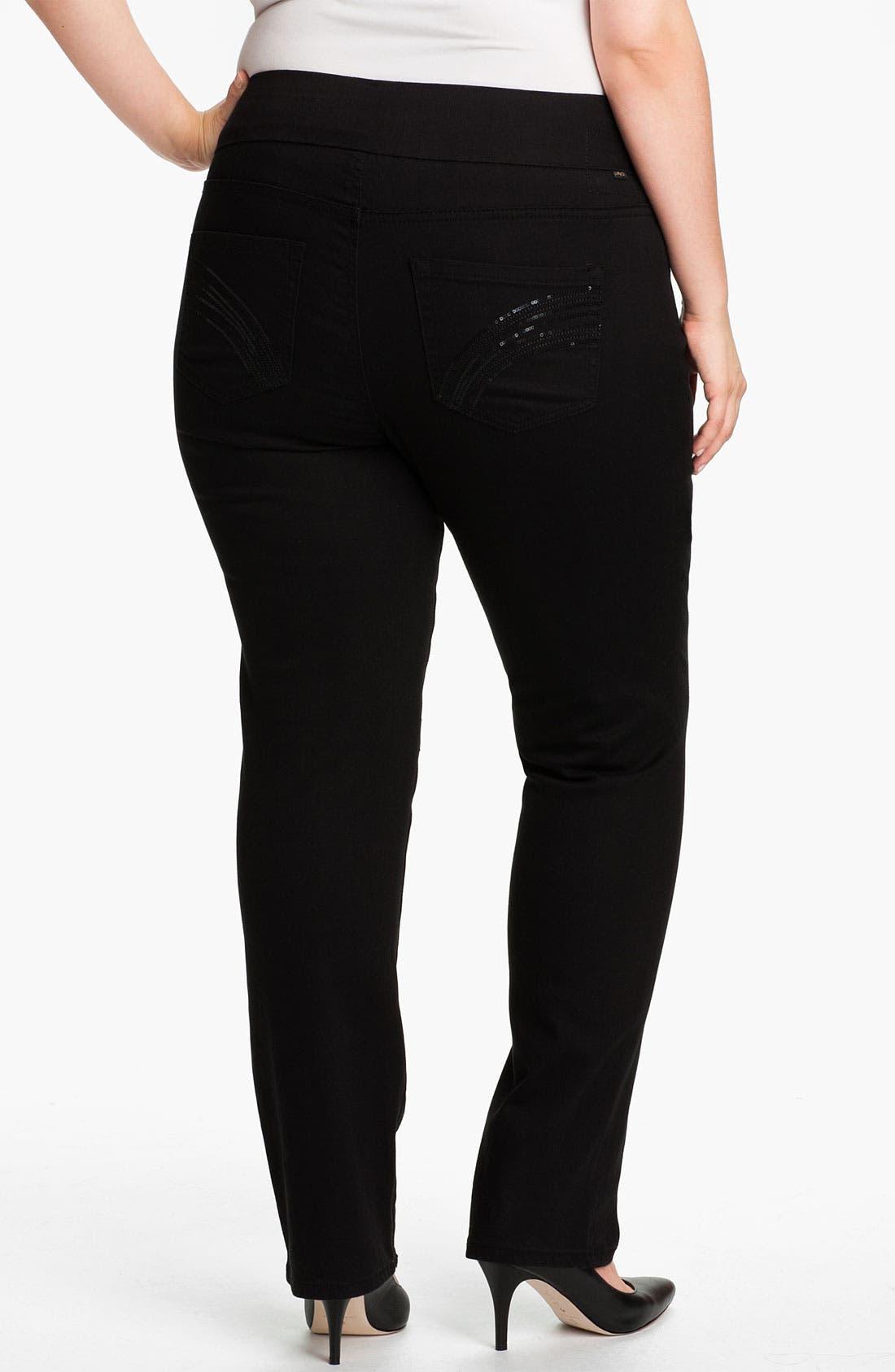 Alternate Image 2  - Jag Jeans 'Tatum' Pull-On Straight Leg Jeans (Plus)