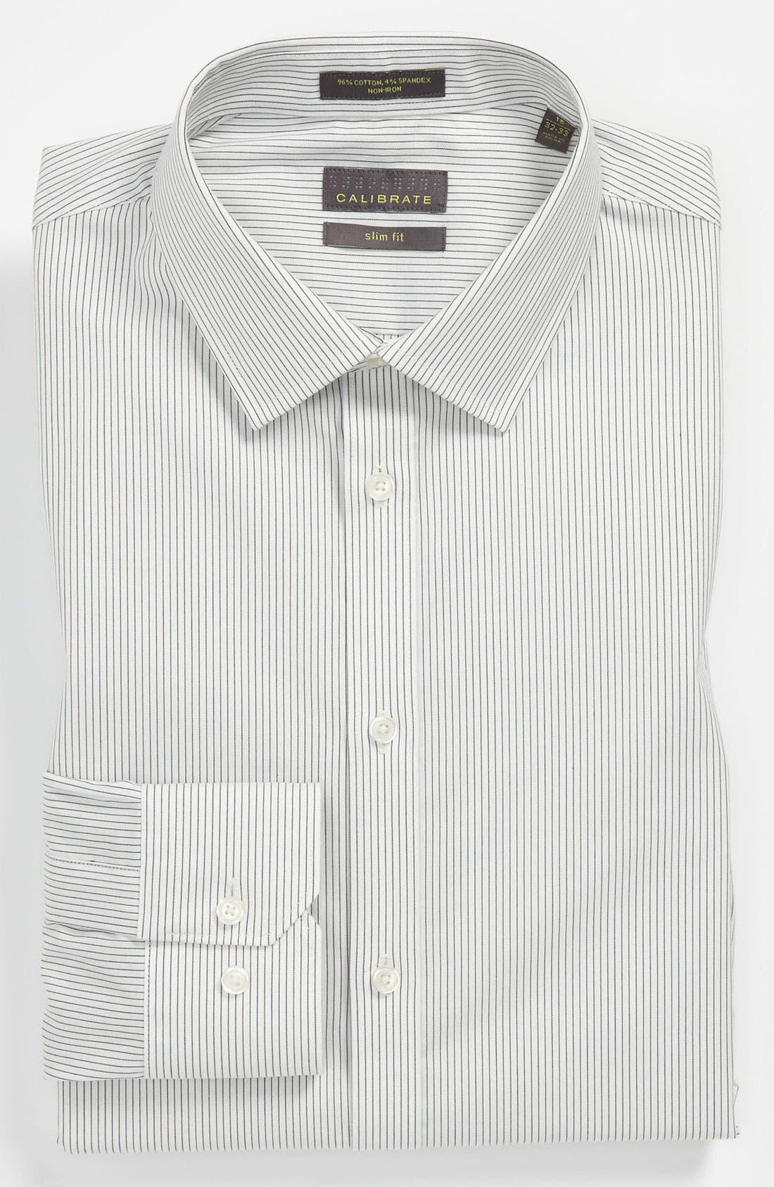 Alternate Image 1 Selected - Calibrate Slim Fit Non-Iron Dress Shirt